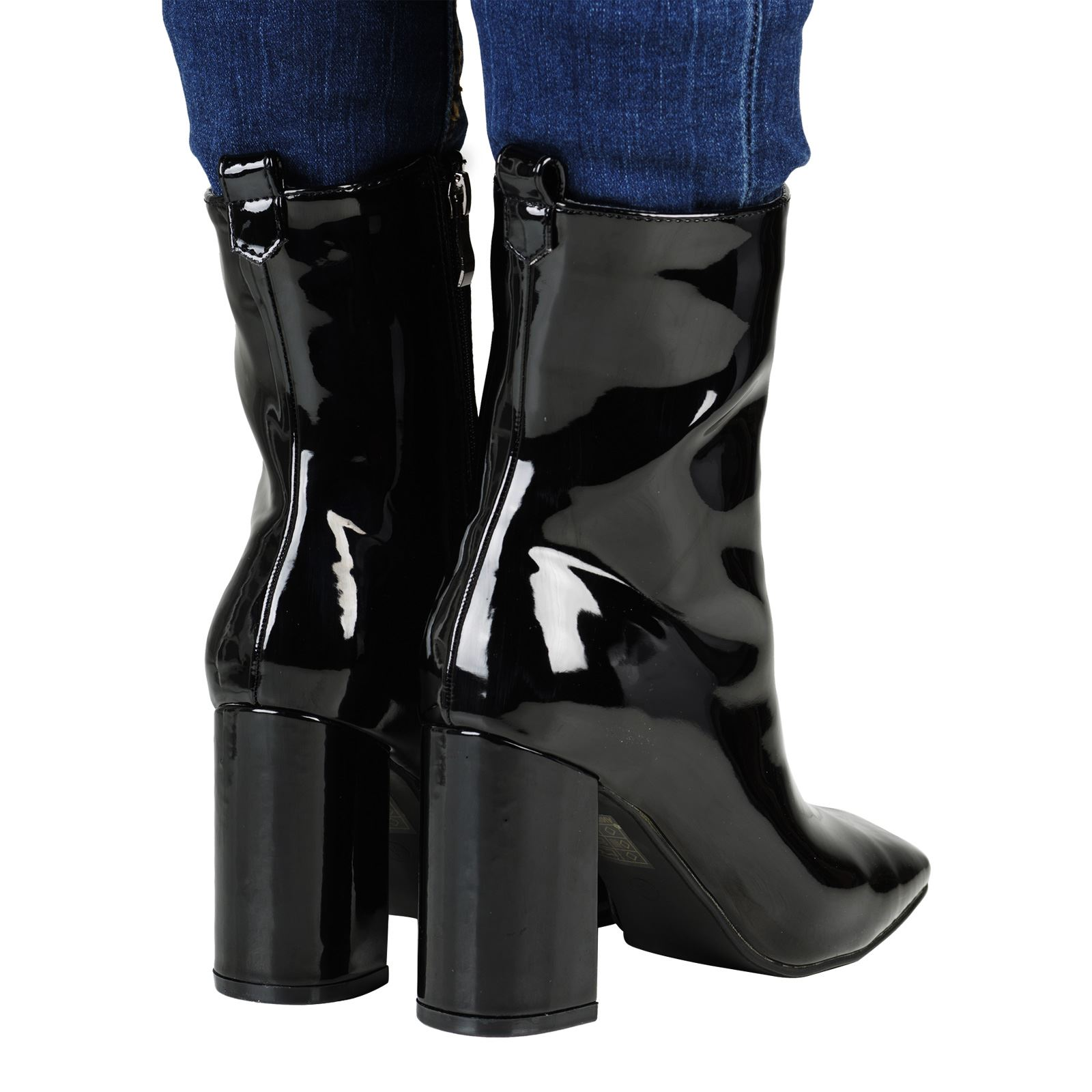 womens ankle boots shoes work office high heel