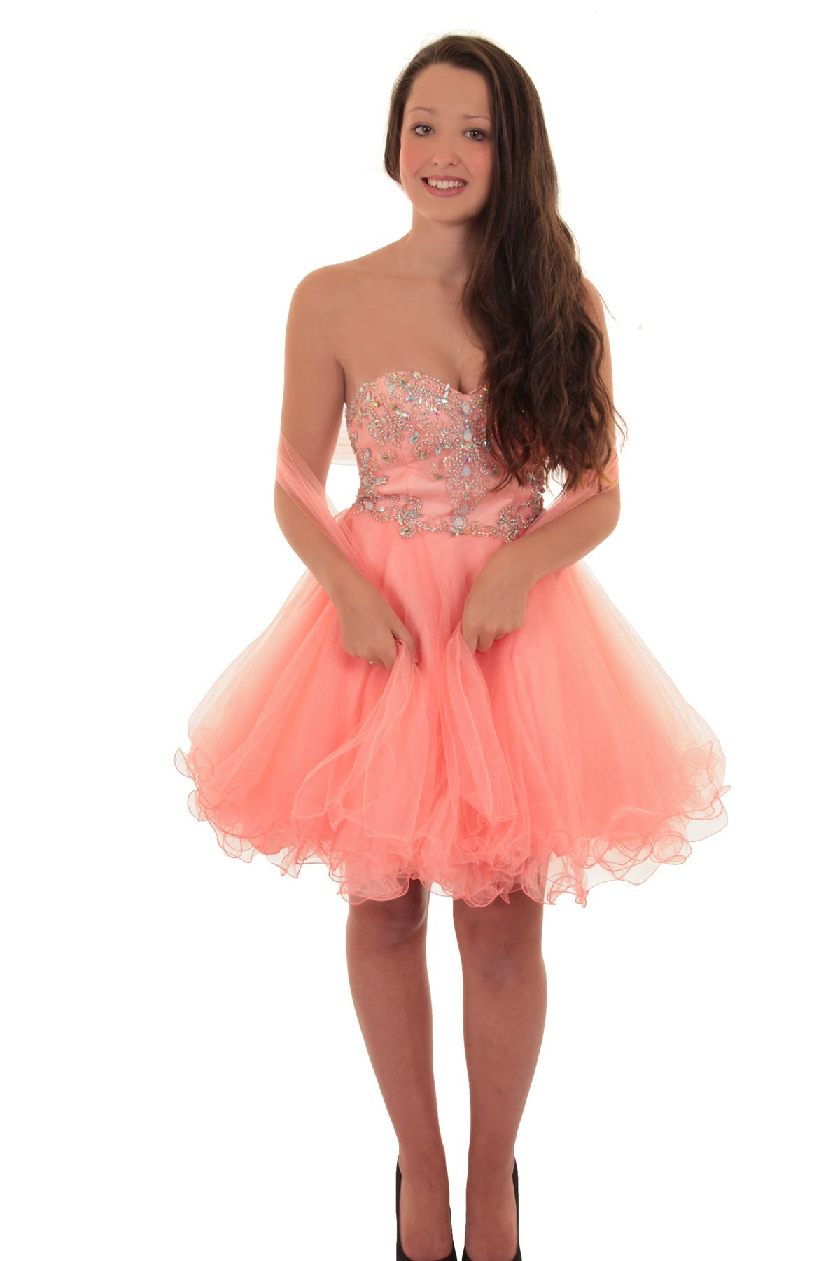 Short Mini Boobtube Chiffon Puff Tutu Prom Bridesmaid Mesh ...