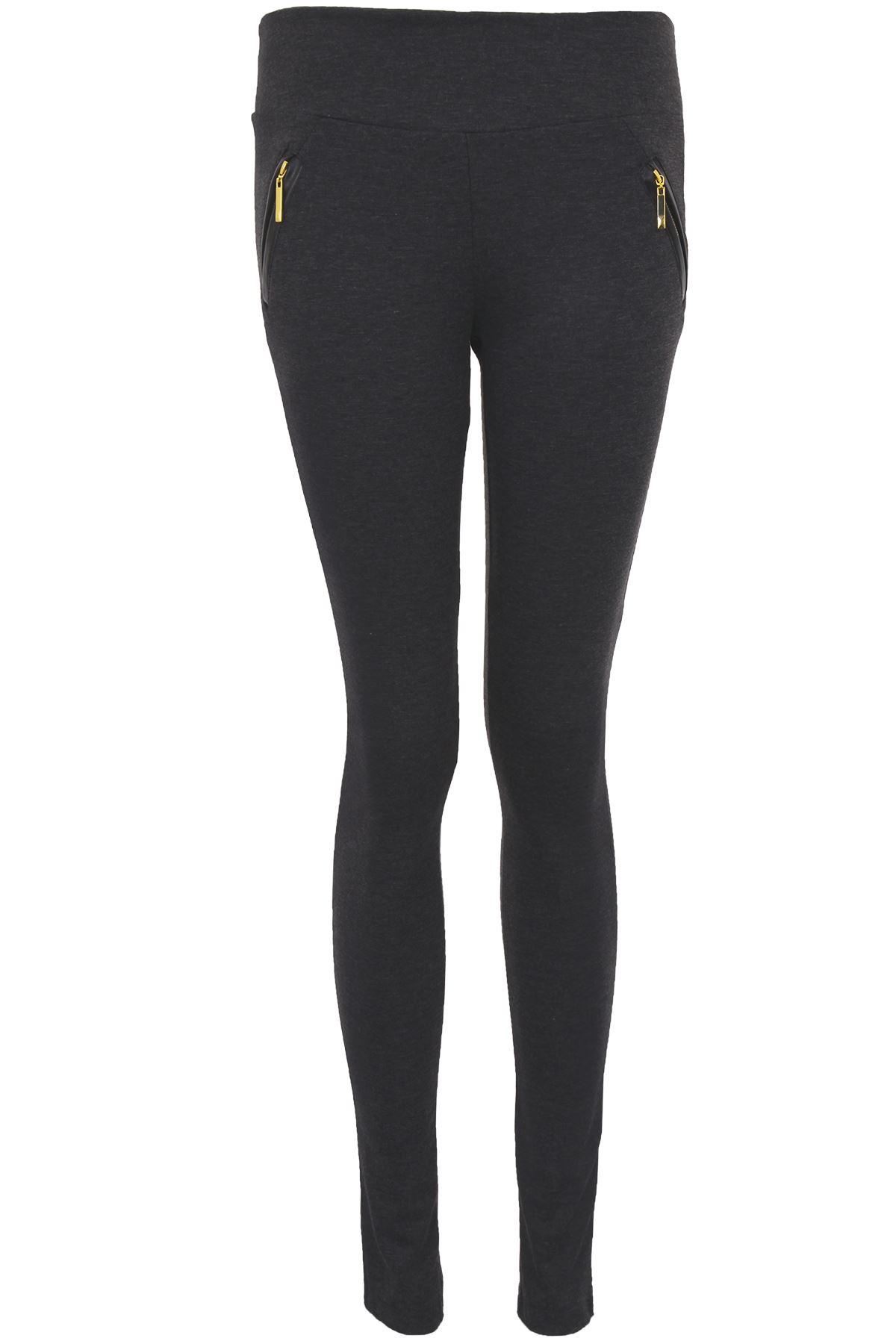 ... -Fit-Gold-Zip-Pockets-Women-039-s-Smart-Office-Jeggings-Trousers-8-14