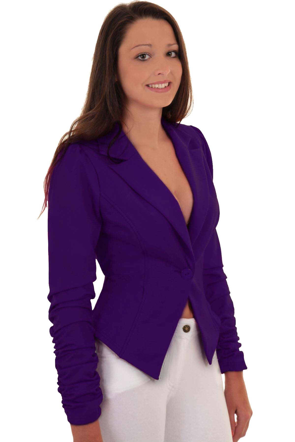 Women's blazers are back with more class and style than ever! Show the world who you really are in one of our beautiful, well-made blazer. Different Cuts for Different Occasions: Create a whole new fashion silhouette with our beautiful selection of single breasted or double-breasted styles. We carry a wide selection of sizes and cuts that are well suited to all types of occasions.