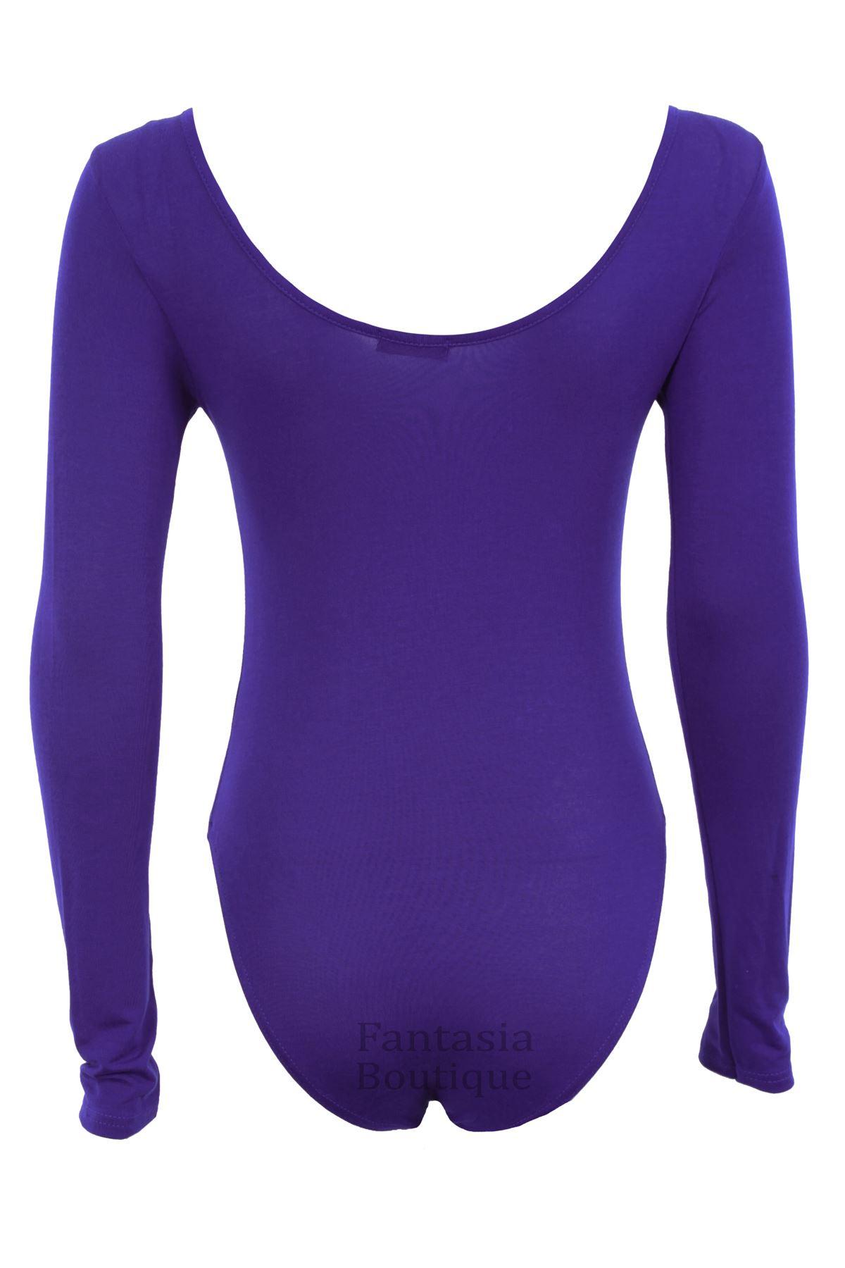 Ladies Long Sleeve Gold Sequin Mesh Insert Low Back Leotard Womens Bodysuit