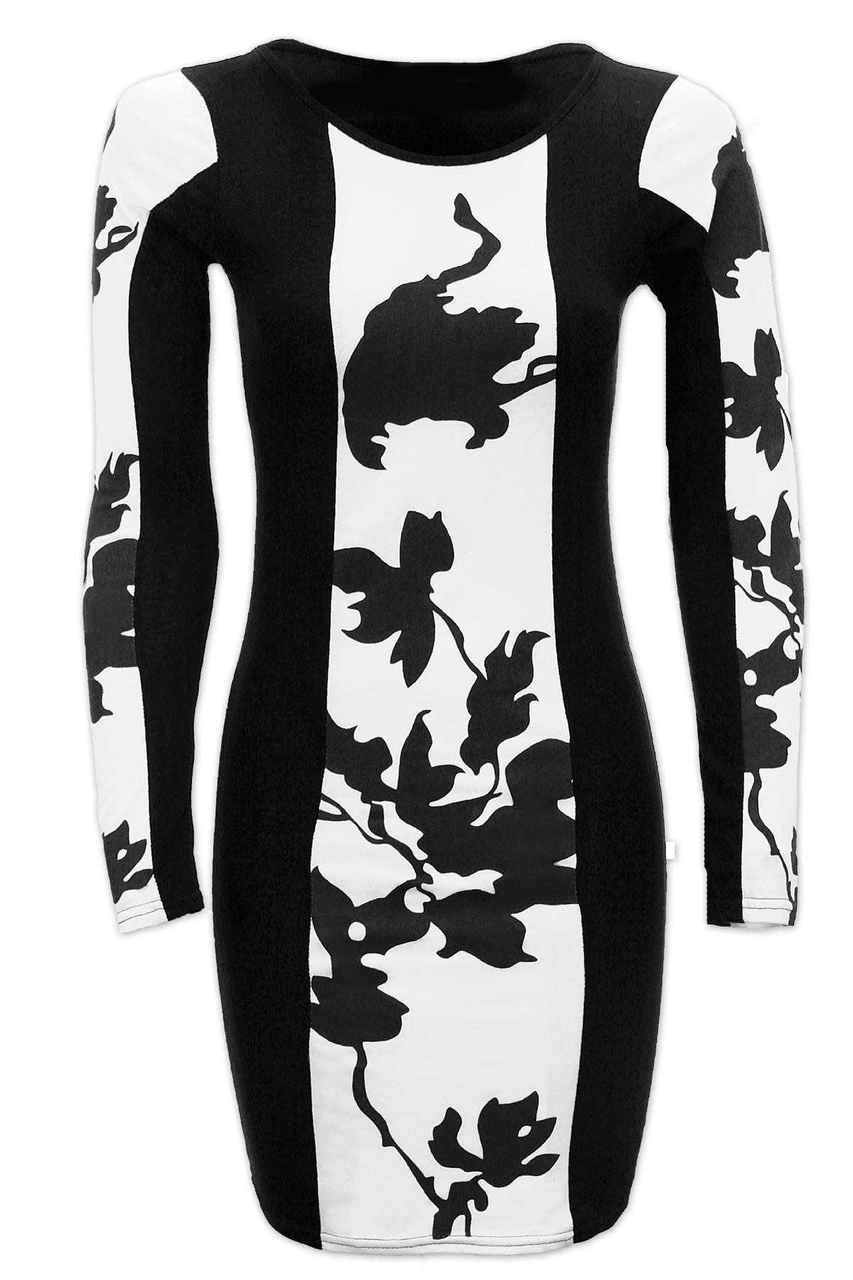 Celeb-Inspired-Leaf-Print-Mini-Short-Women-Bodycon-Dress