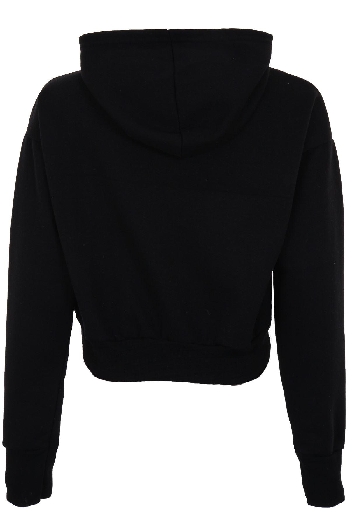 women 39 s crop top pull over hangover hoodie ladies hooded hoody jumper ebay. Black Bedroom Furniture Sets. Home Design Ideas