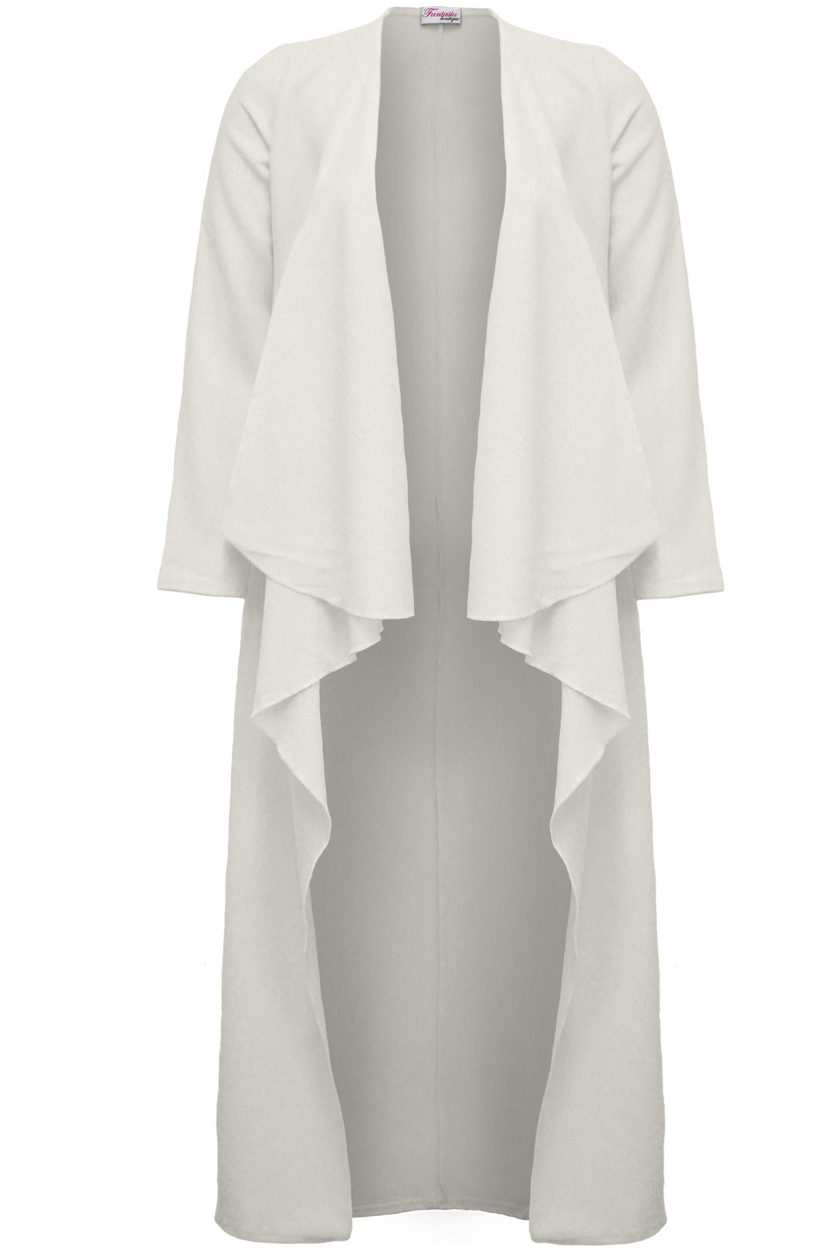 Ladies Celeb Keegan Crepe Waterfall Long Duster Jacket Lightweight ...