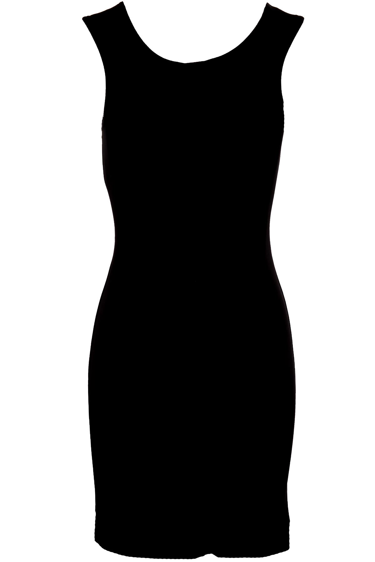 Ladies Sleeveless Black Foil Tribal Print Women's Evening Smart Bodycon Dress