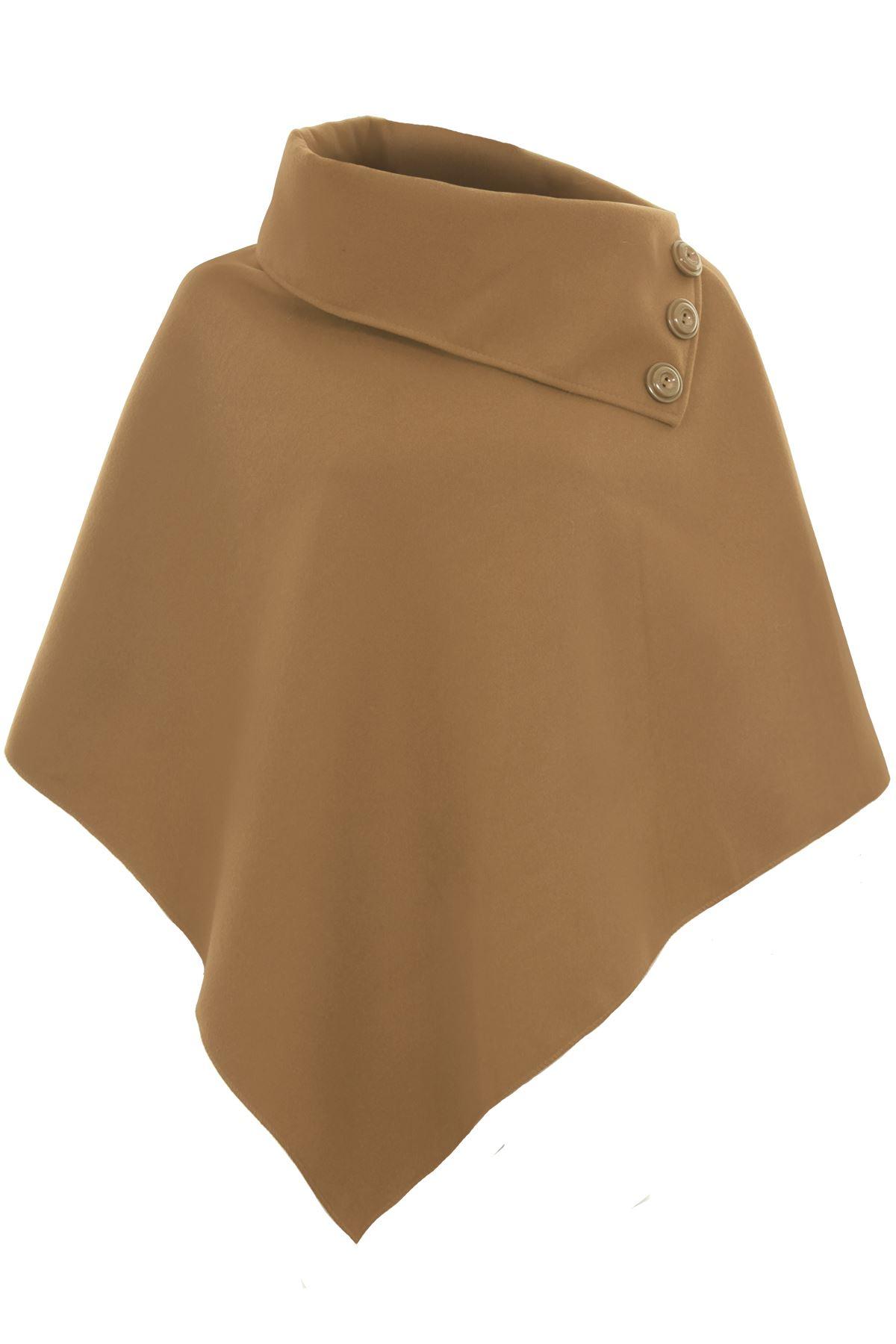 Ladies Sleeveless High Neck Collar 3 Button Asymmetric ...