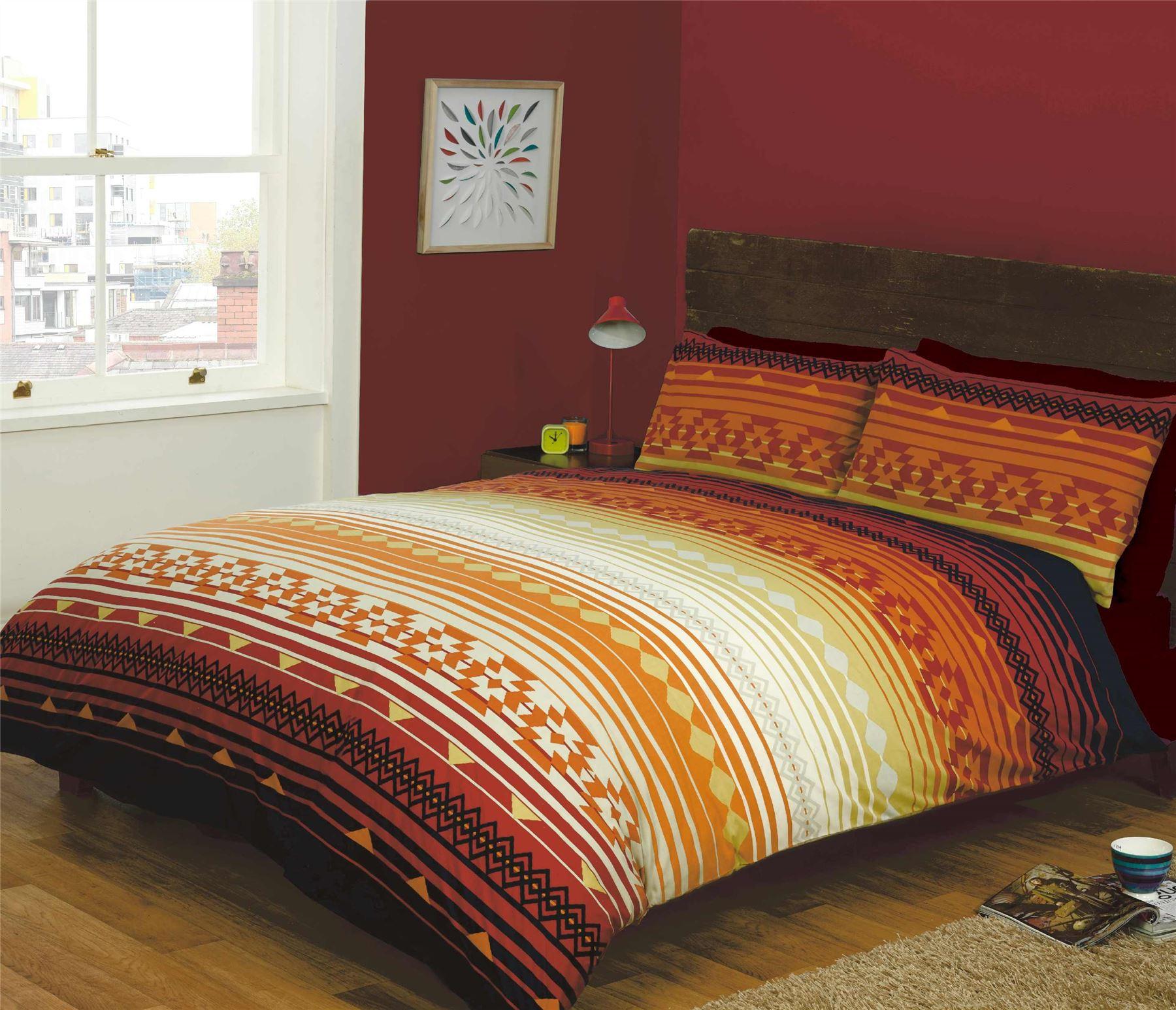 indian inspired quilt duvet cover pillowcase bedding bed sets 3 sizes ebay. Black Bedroom Furniture Sets. Home Design Ideas