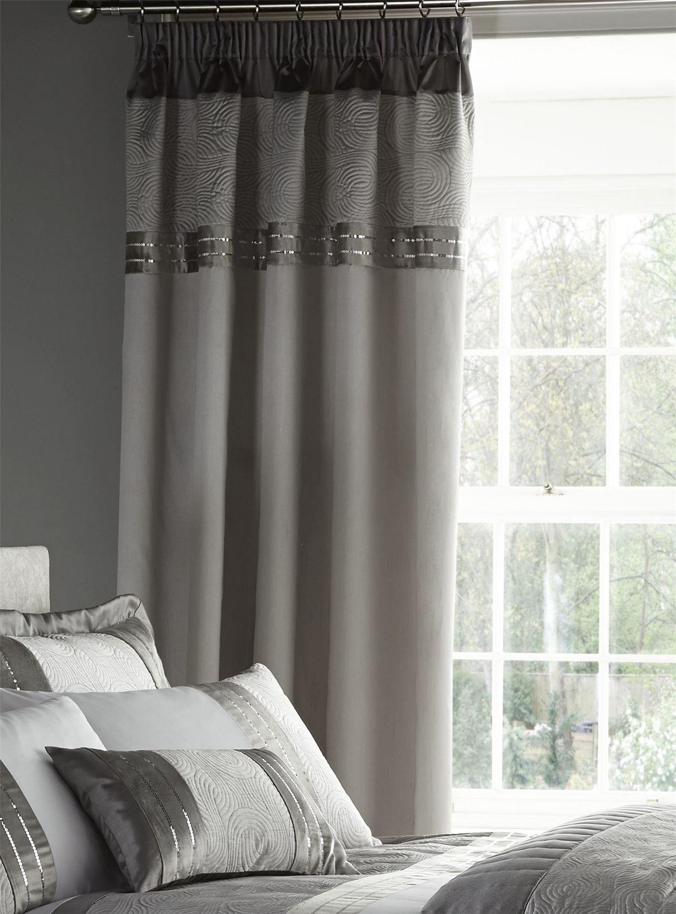 Conjunto de lujo ropa de cama funda n rdica gris plata o for Cortinas gris plata