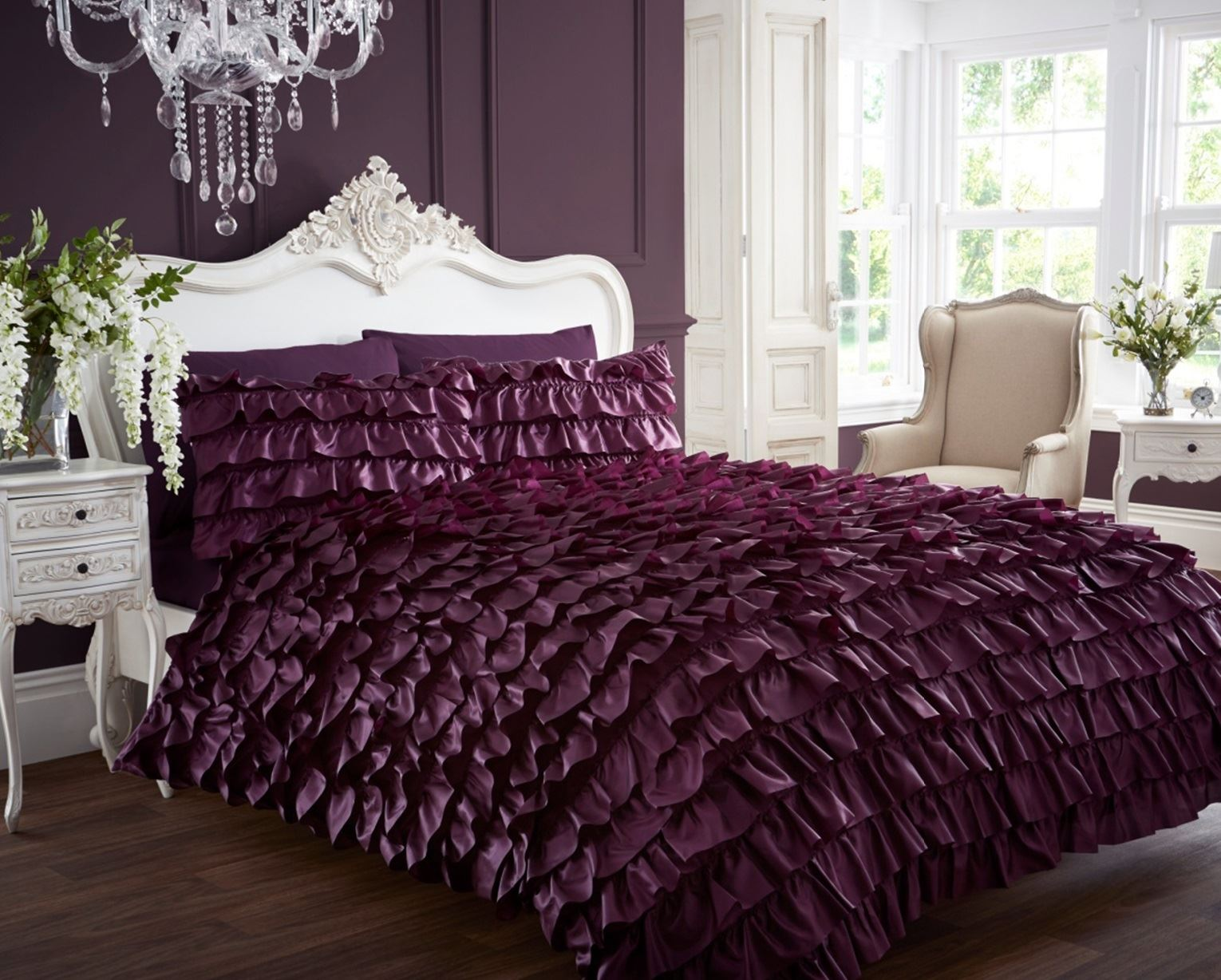 Black and purple bed sheets - Flamenco Dress Can Quilt Duvet Cover P Case Bedding Bed Purple Black Comforter Set