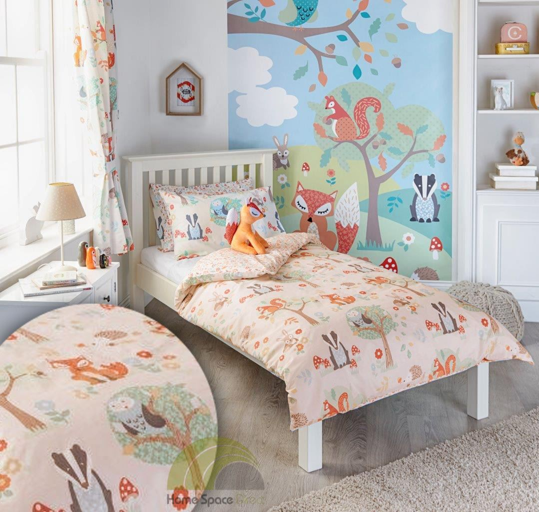 Children kids junior single double quilt duvet covers p for Kids double bed