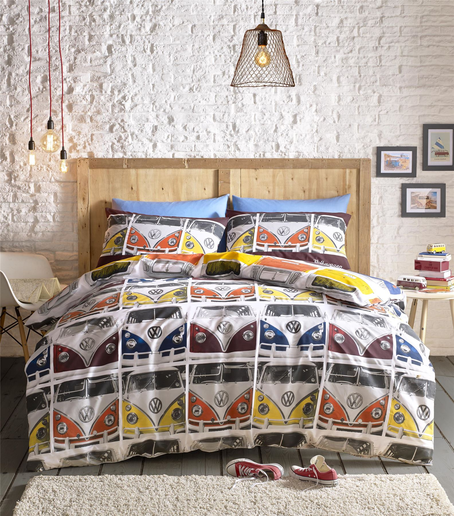 Campervan Beetles VW Cars Quilt Duvet Cover & Pillowcase