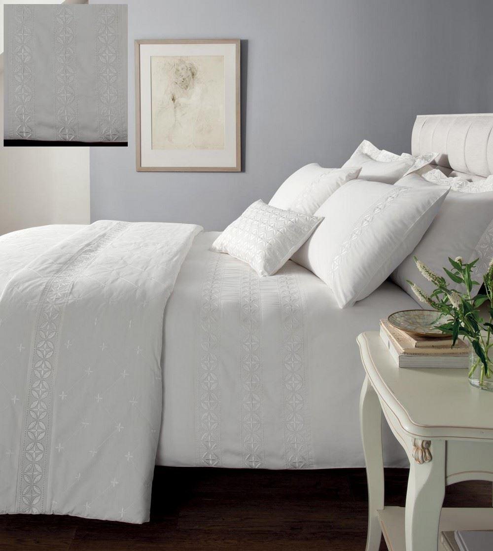 Ropa de cama blanca windsor colcha fundas almohada y - Cojines grandes para cama ...