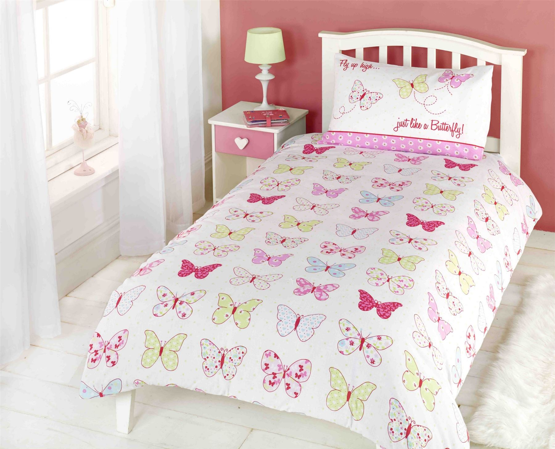 Girls Childrens Quilt Duvet Cover & Pillowcase Bedding