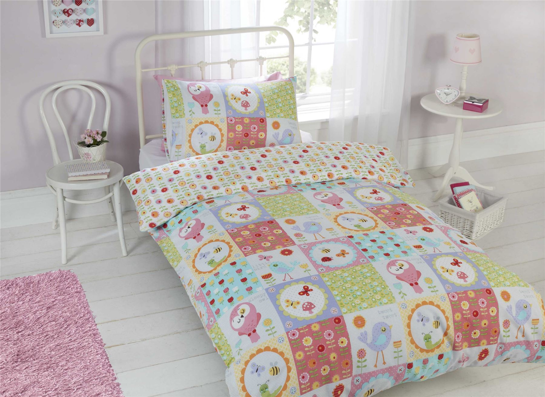 children kids junior single double quilt duvet covers p. Black Bedroom Furniture Sets. Home Design Ideas