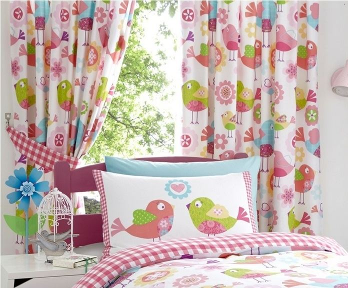Floral Birds Childrens Girls Quilt Duvet Cover Bed Sets Or ...