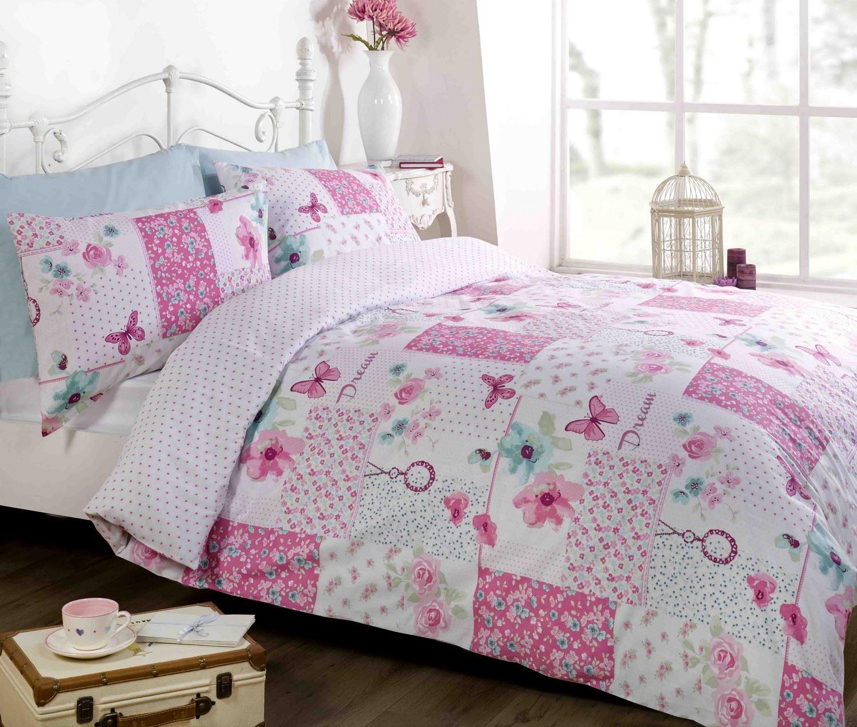 Rosa biancheria letto set copripiumino singolo doppio king - Piumoni da letto ...