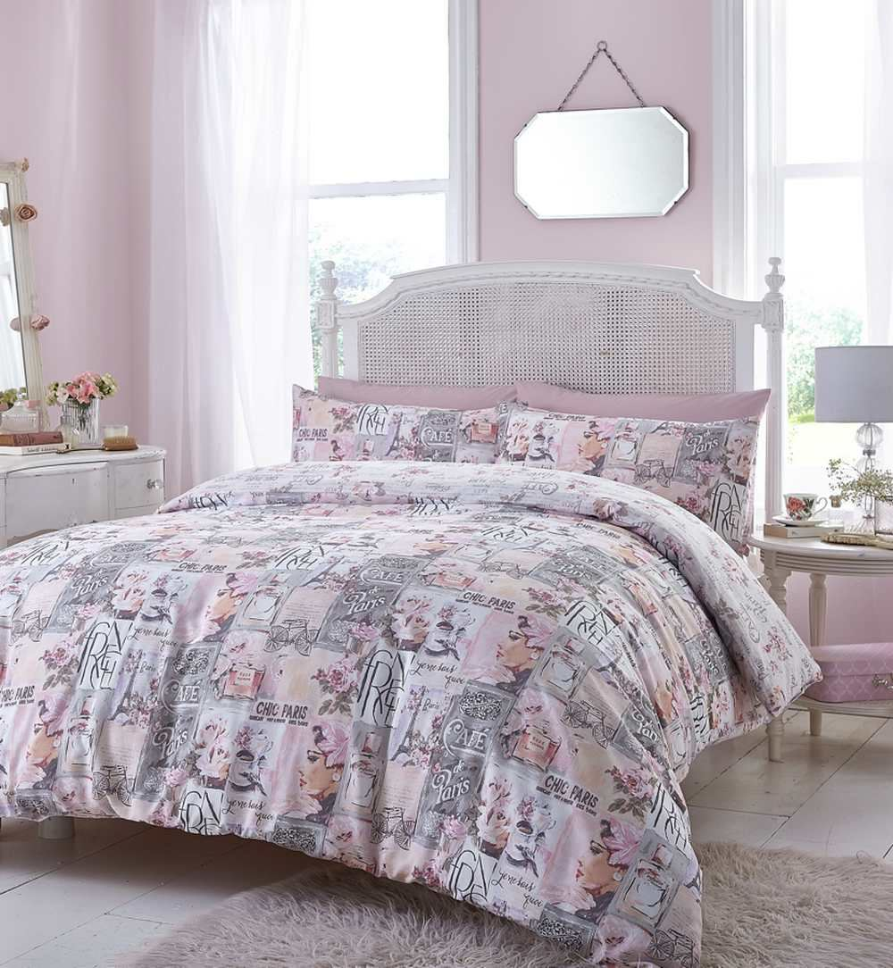 floral quilt duvet cover pillowcase bedding bed set single double king country ebay. Black Bedroom Furniture Sets. Home Design Ideas