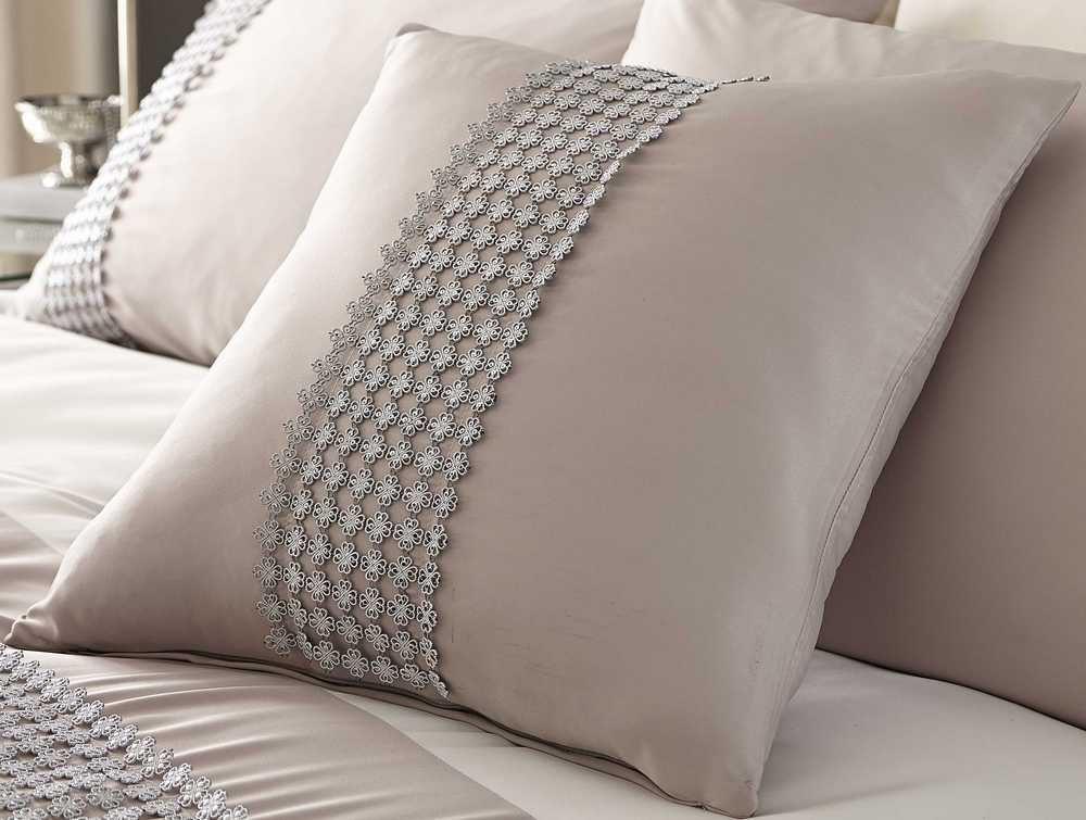 housse de couette effet m tallis cr me beige ou plaid ou rideaux ou coussin ebay. Black Bedroom Furniture Sets. Home Design Ideas