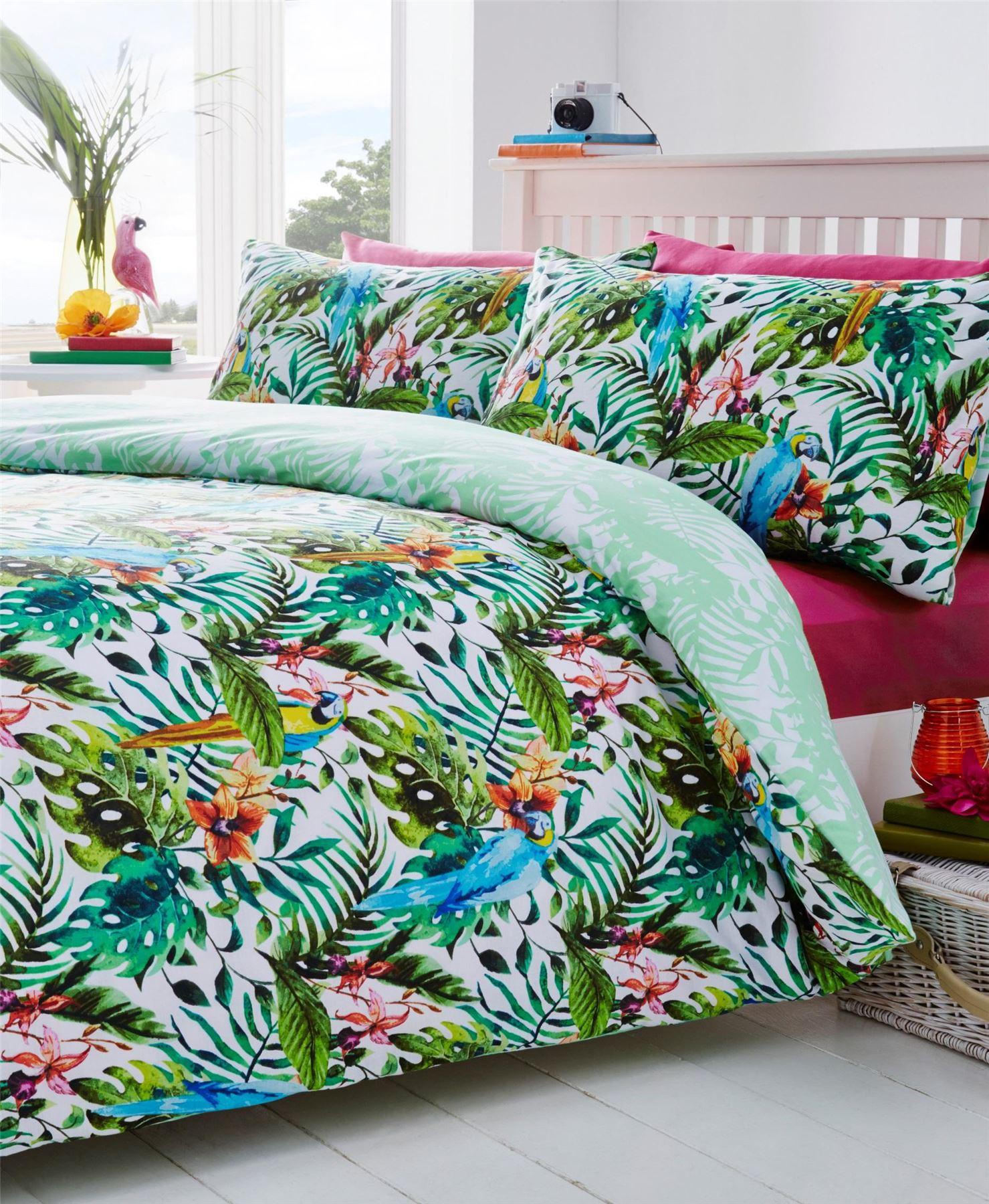 Bird Floral Nature Quilt Duvet Cover & Pillowcase Bedding Bed Set 4 Sizes | eBay