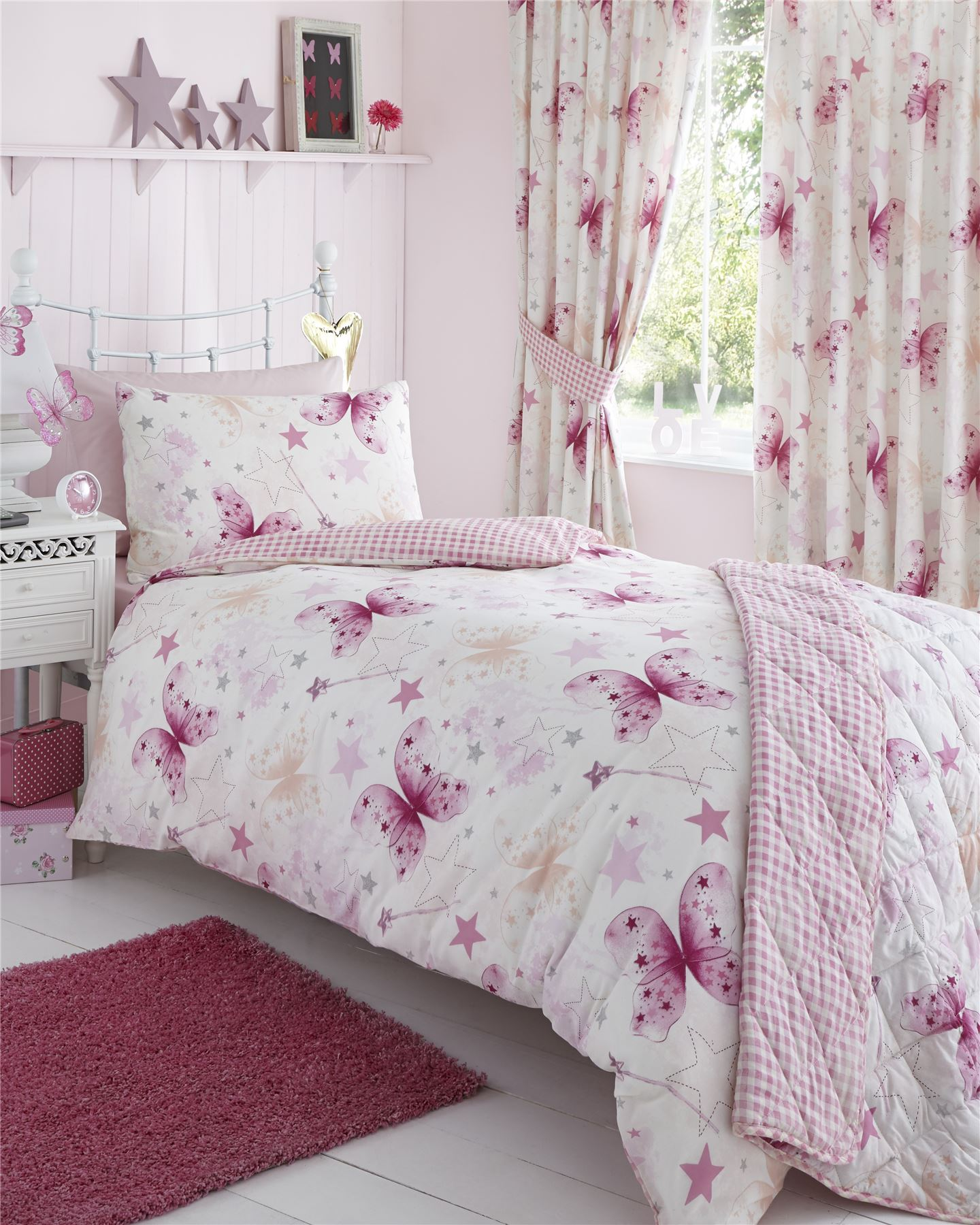 Girls Childrens Quilt Duvet Cover & Pillowcase Bedding ...