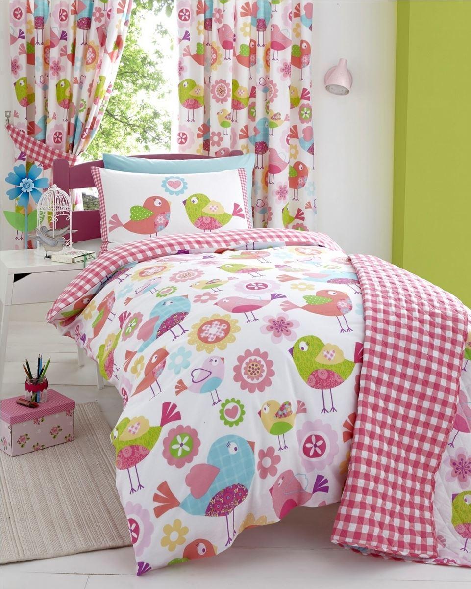 Girls Childrens Quilt Duvet Cover Pillowcase Bedding Sets Or Matching Curtains Ebay