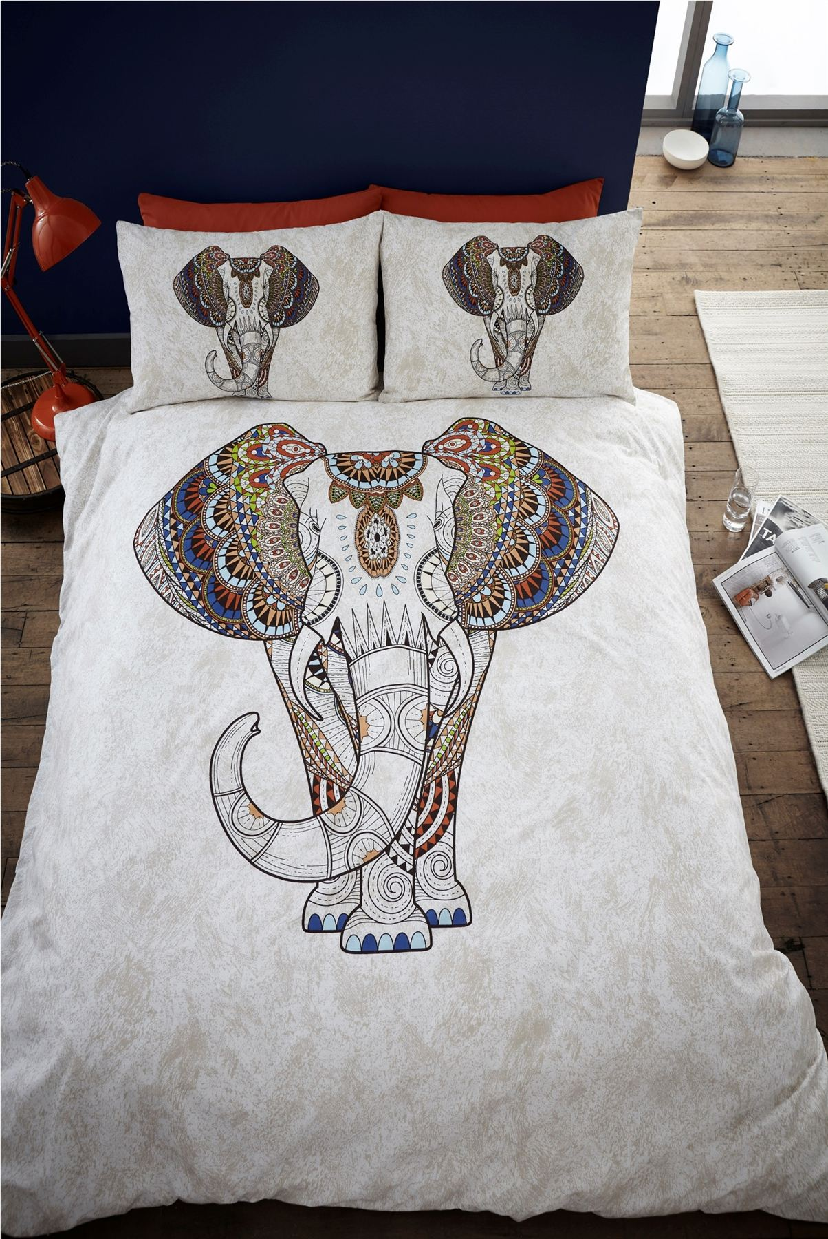 indian style elephant quilt duvet cover pillowcase bedding bed sets 4 sizes ebay. Black Bedroom Furniture Sets. Home Design Ideas