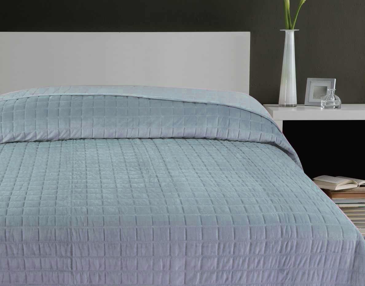 Quilted velvet double bedspread throw throwover bedding 4 - Biancheria da letto moderna ...