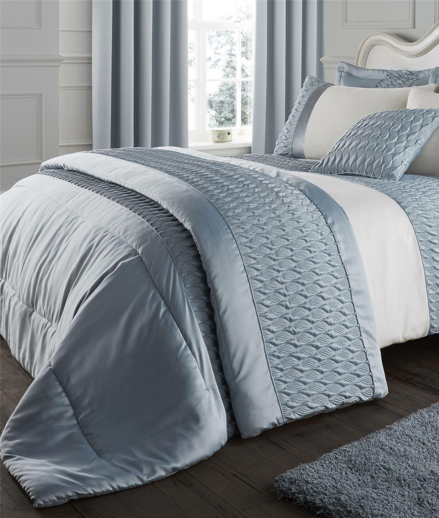 Duck Egg Catherine Lansfield Bedding Bed Set Curtains Duvet Quilt Or Bedspread Ebay