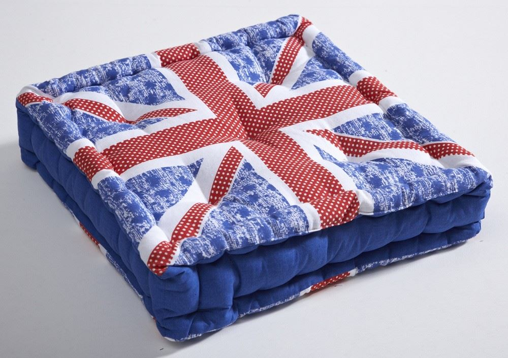 Seat Pads Boxed Cushions Cotton Bolsters Union Jack Outdoor Seat Pad EBay