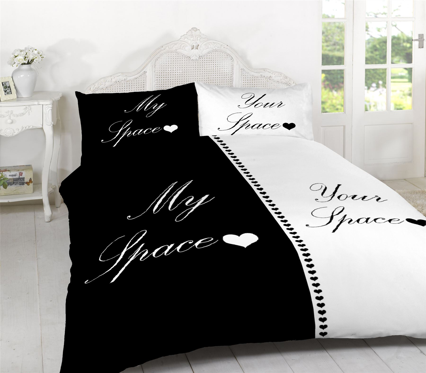 My Space Your Space Quilt Duvet Cover 2 Pillowcase