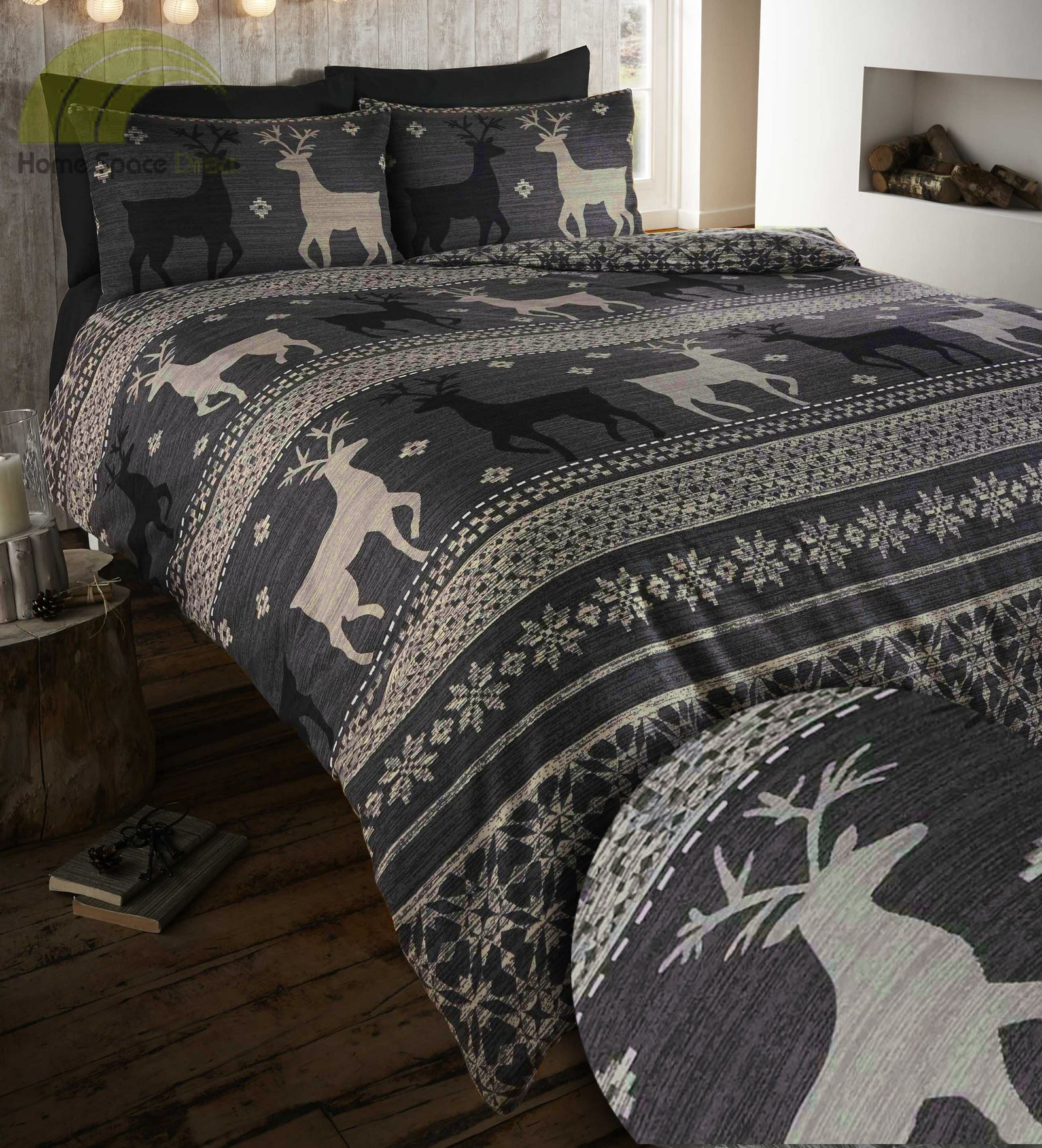 100 brushed cotton flannelette quilt duvet cover bedding. Black Bedroom Furniture Sets. Home Design Ideas