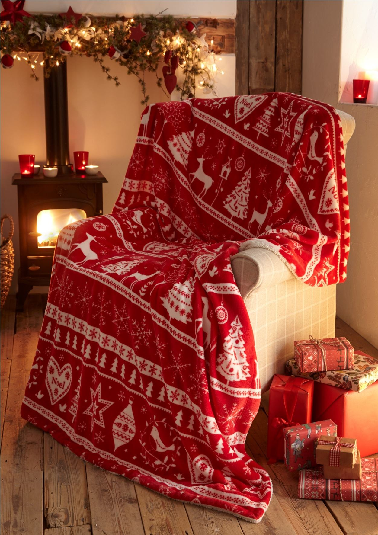 Christmas soft fleece throws decorative bed sofa blanket xmas father christmas ebay - Decorative throws for furniture ...