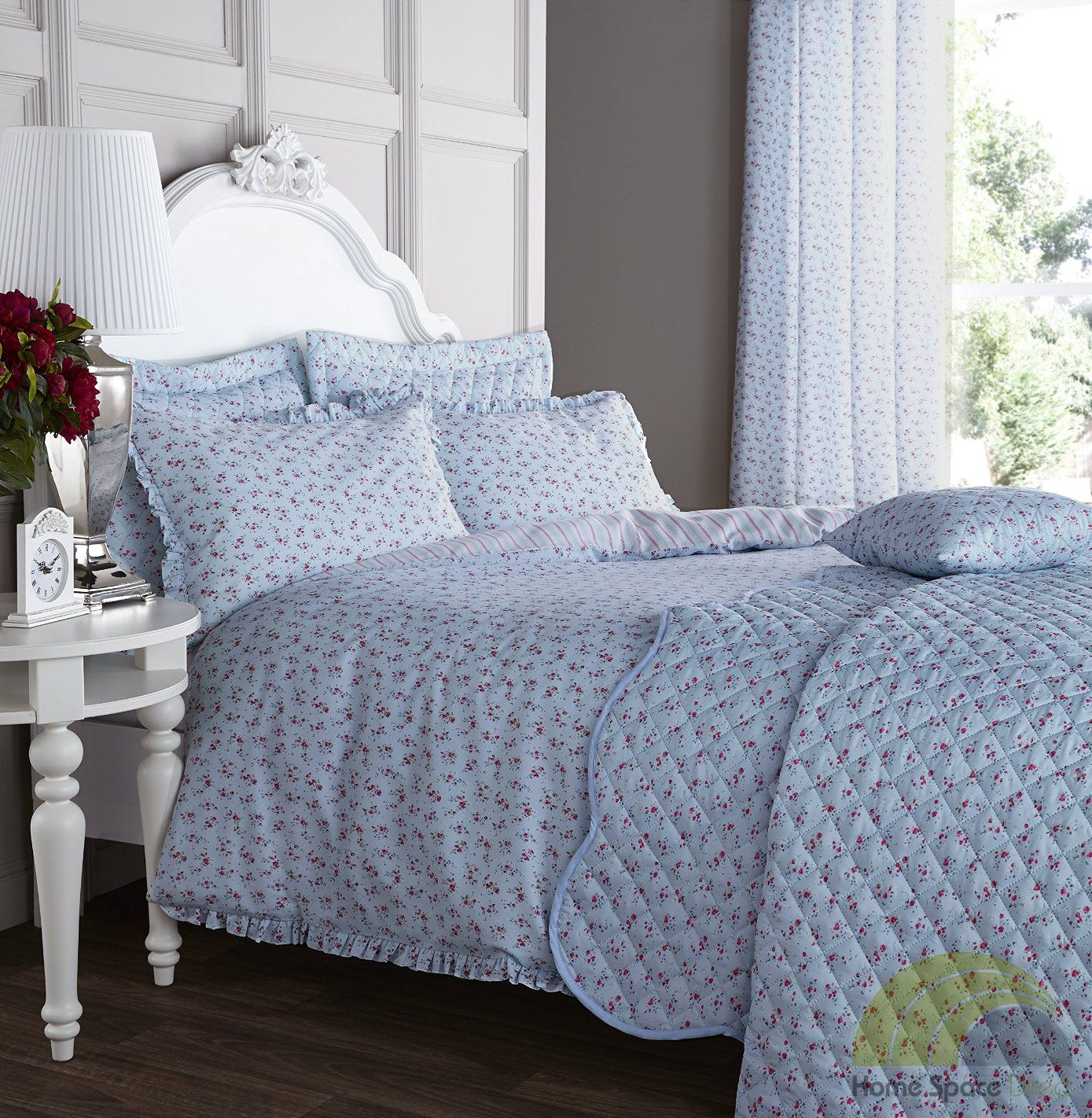 Floral Duvet Cover Bedding Bed Sets 3 Sizes Or Eyelet Curtains Or Accessories