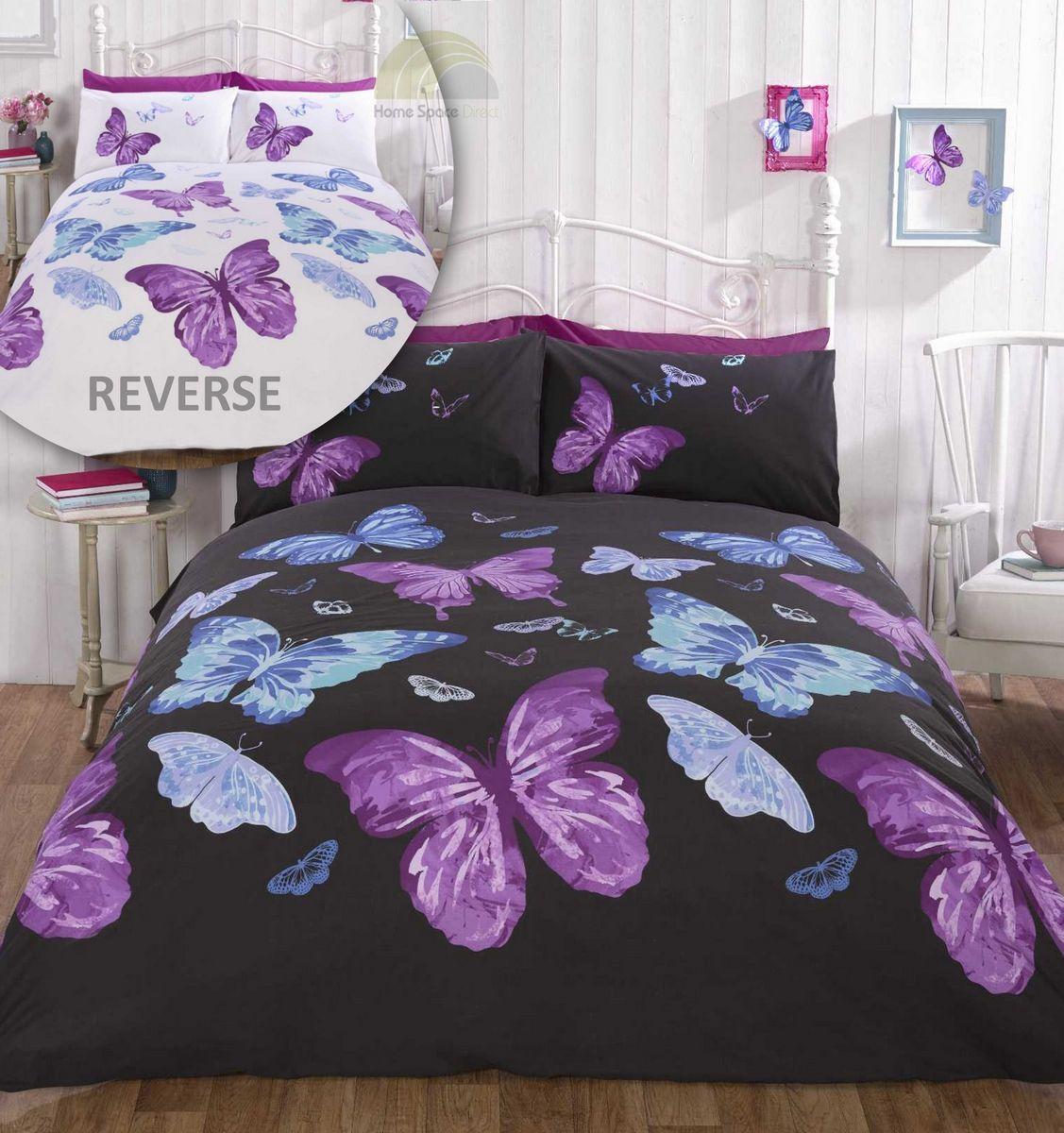 Butterflies Modern Quilt Duvet Cover & Pillowcase Bedding Bed Sets 3 Sizes New