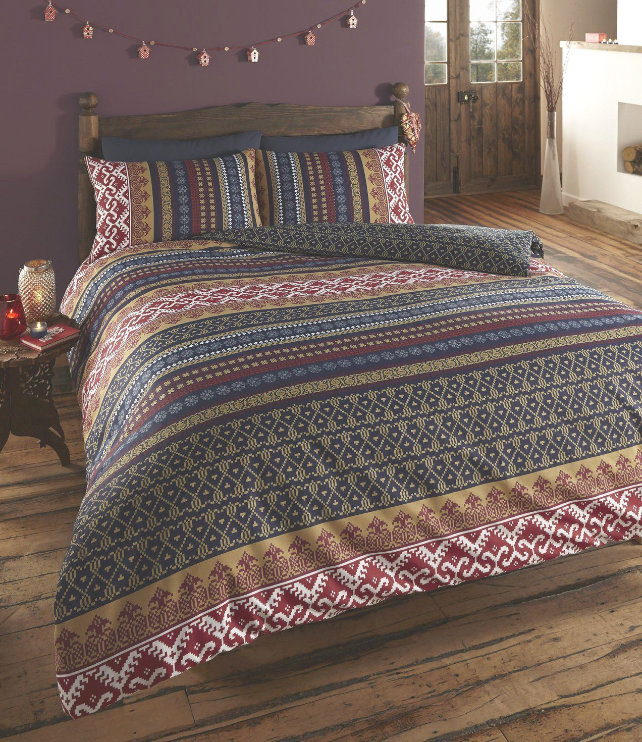 Indian inspired quilt duvet cover pillowcase bedding bed for Parure de lit 240x260