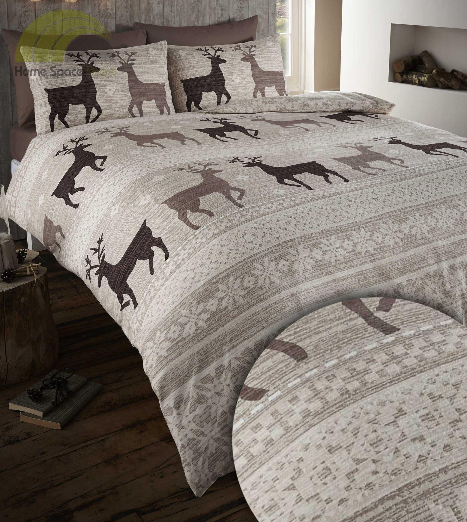 100 brushed cotton flannelette quilt duvet cover bedding. Black Bedroom Furniture Sets. Home Design Ideas