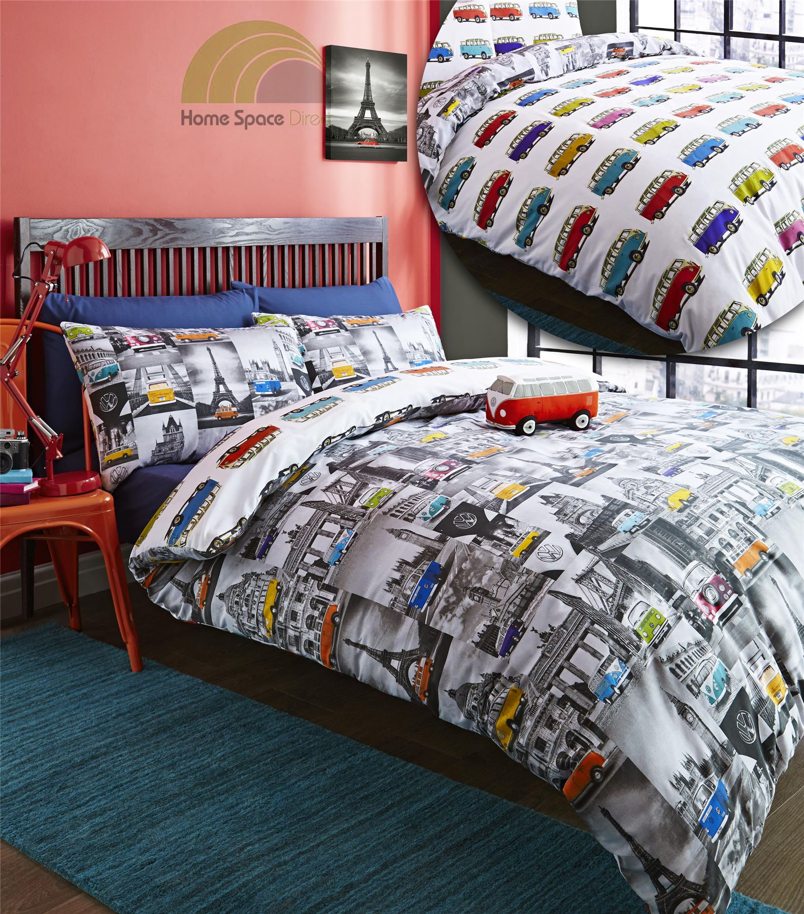 Campervan Beetles Vw Cars Quilt Duvet Cover Amp Pillowcase