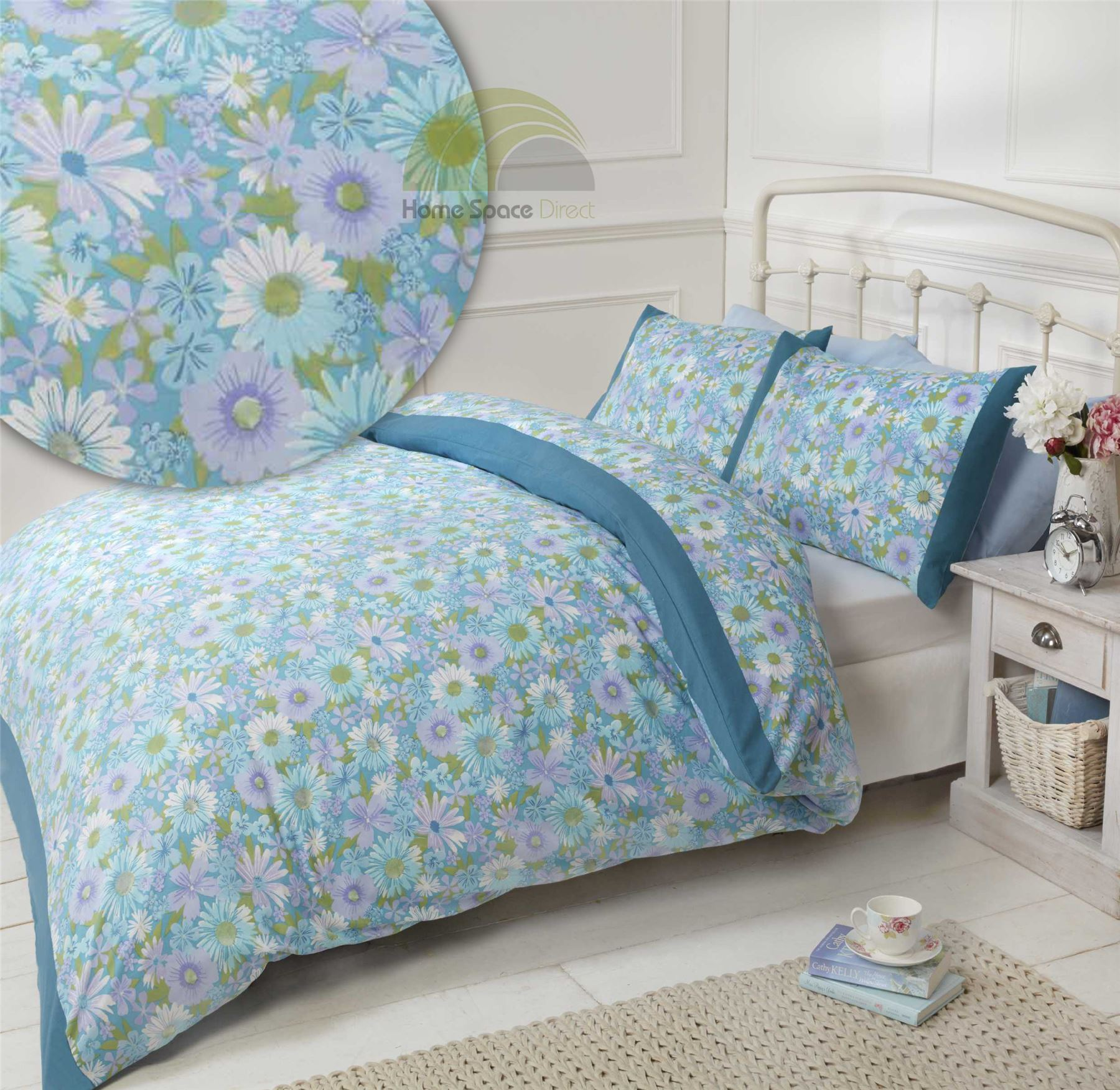Lyckoax Duvet Cover And Pillowcase S White Lilac: Floral Quilt Duvet Cover & Pillowcase Bedding Bed Set