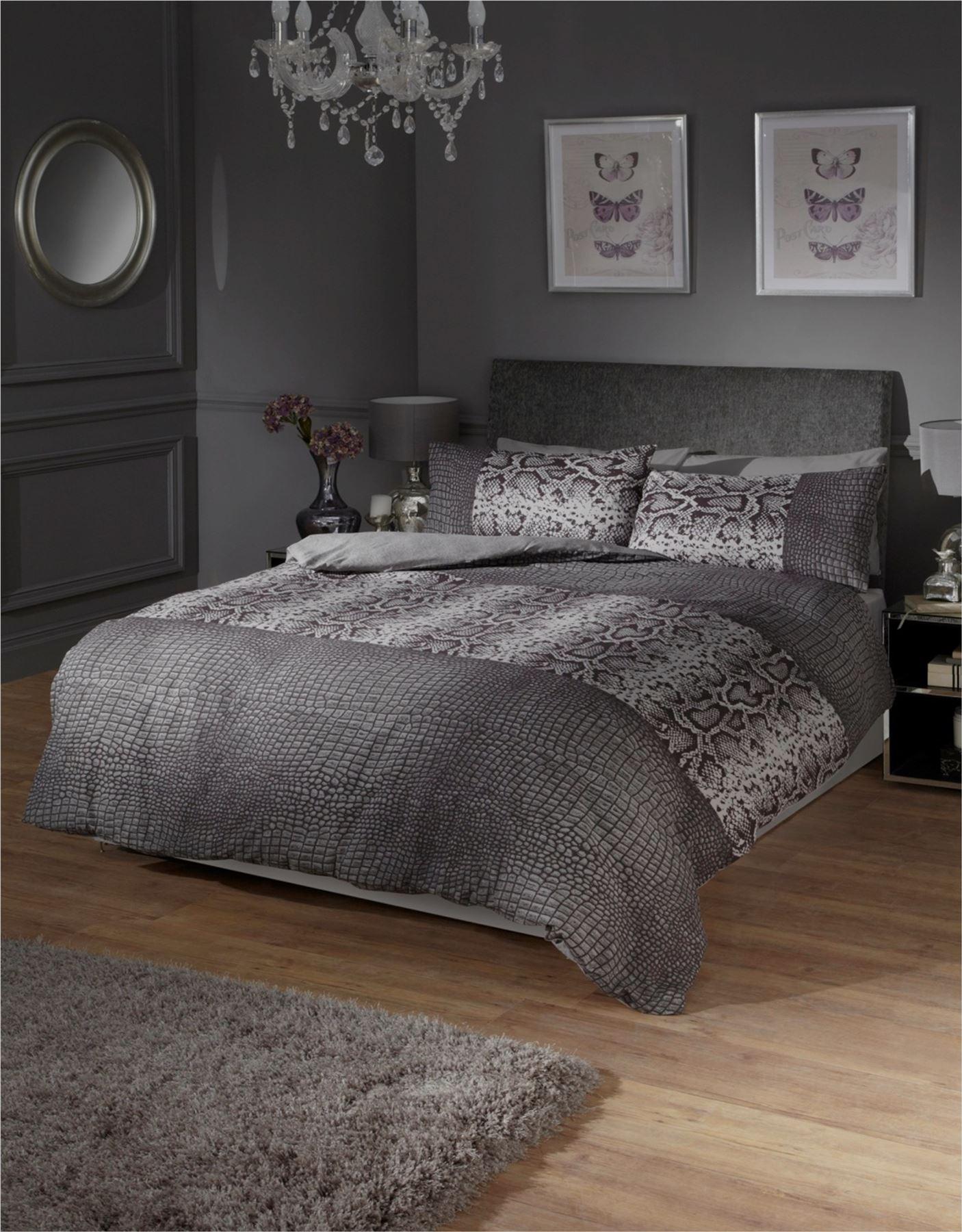black and grey snake skin style quilt duvet cover  pillowcase  - blackandgreysnakeskinstylequiltduvet
