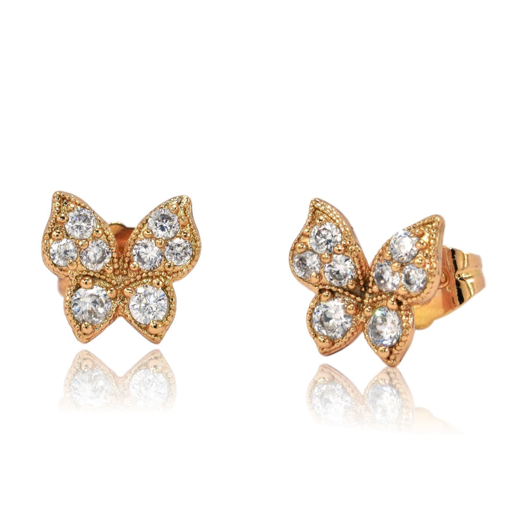 Gorgeous Small Butterfly Shaped Stud Earrings 9ct Rose. Composite Diamond Earrings. Cocktail Dress Earrings. Gold Leaf Earrings. Process Earrings. Seashell Earrings. Hip Hop Earrings. Ted Baker Earrings. Unique Ear Earrings