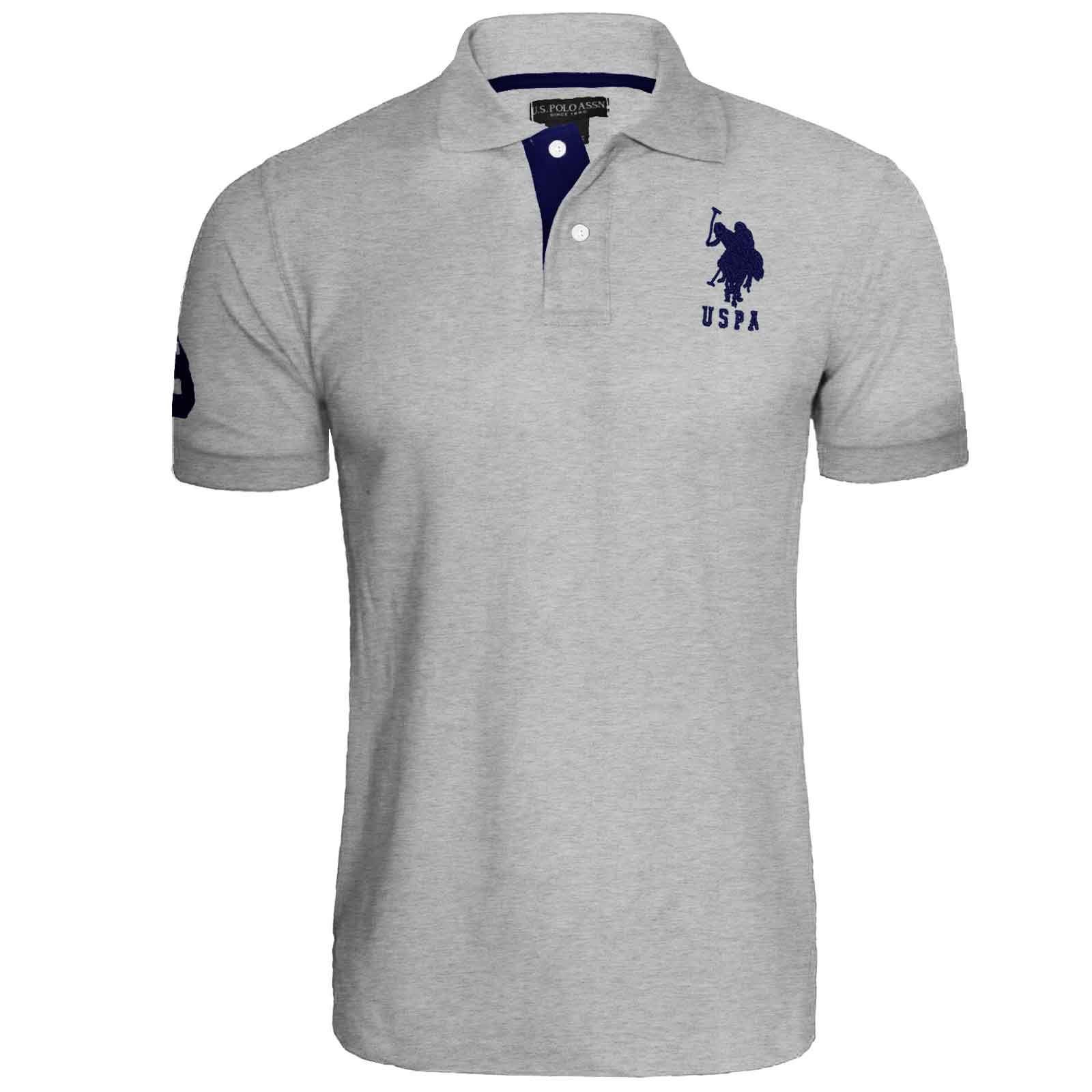 Mens US Polo Assn Pique Shirt Original Top Designer T ...