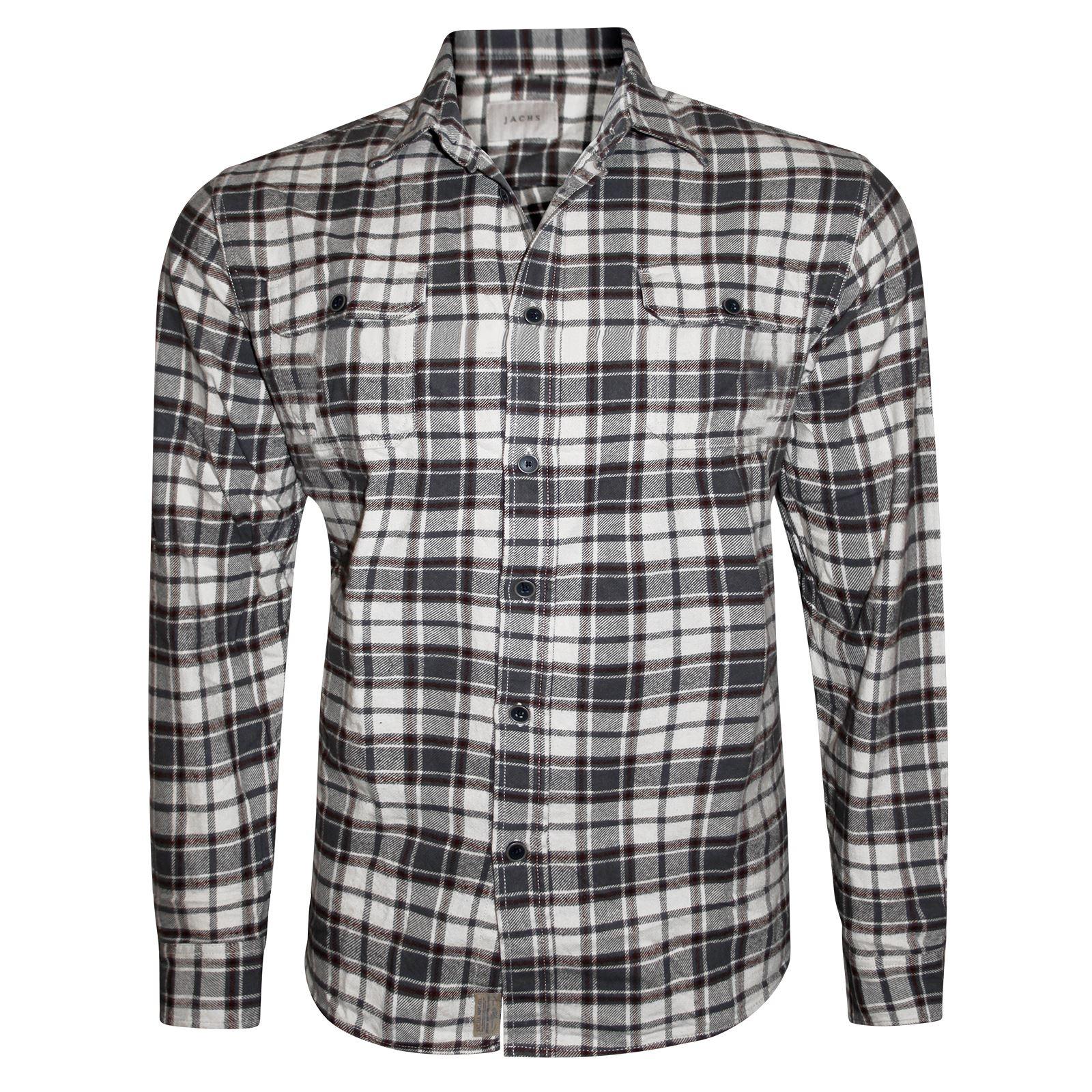 Mens Flannel Brushed Fleece Shirt Plaid Lumberjack Check