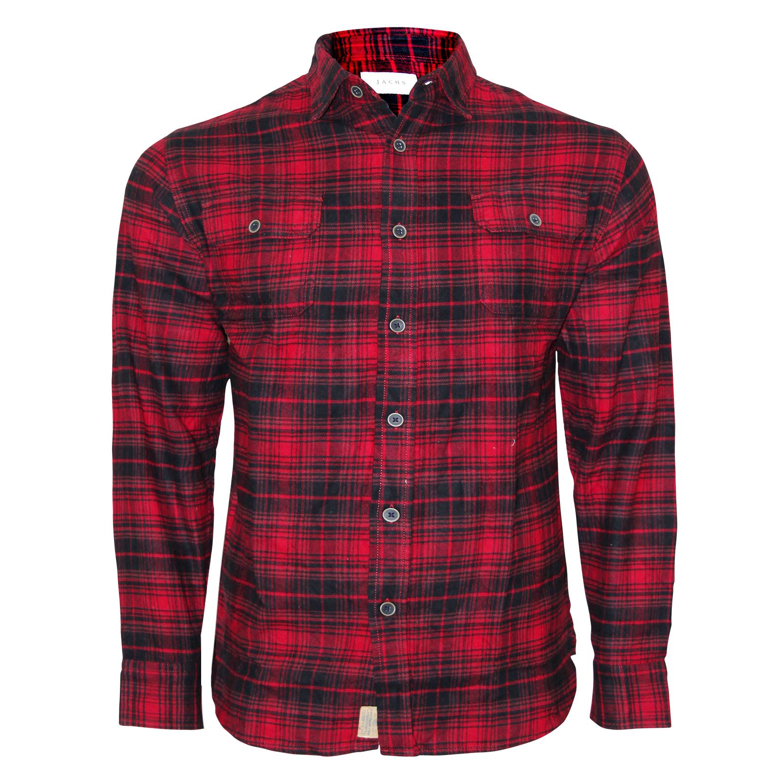 new mens brushed fleece flannel check shirt jachs branded. Black Bedroom Furniture Sets. Home Design Ideas