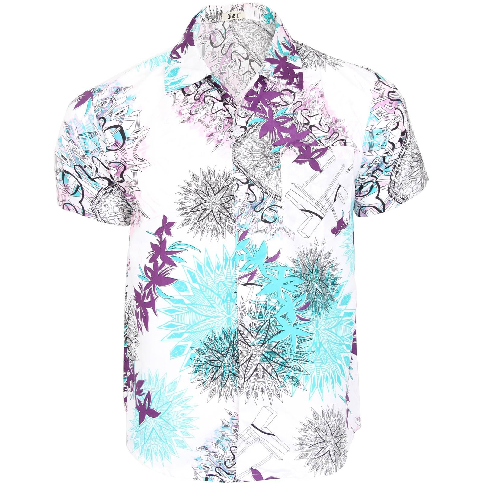 Kids Boys Girls Hawaiian Floral Beach Shirt Fancy Dress Party Age 6 8 10 12 14 | EBay