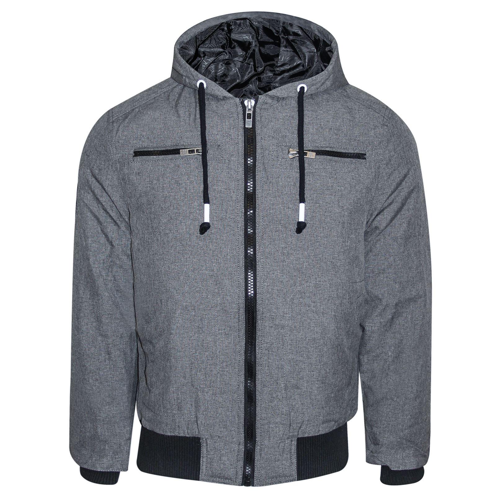 homme rembourr capuche veste bomber hiver de marque manteau 6 poches lastique manchette. Black Bedroom Furniture Sets. Home Design Ideas