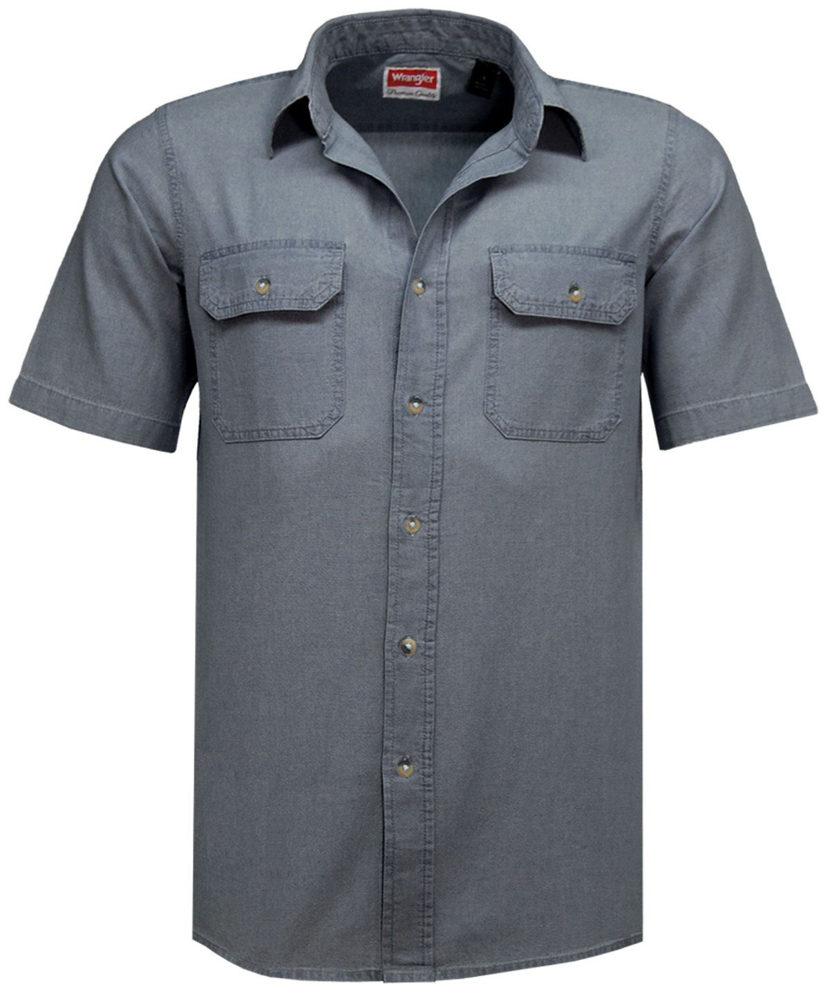 Mens wrangler denim shirt casual vintage formal work shirt for Wrangler denim shirts uk