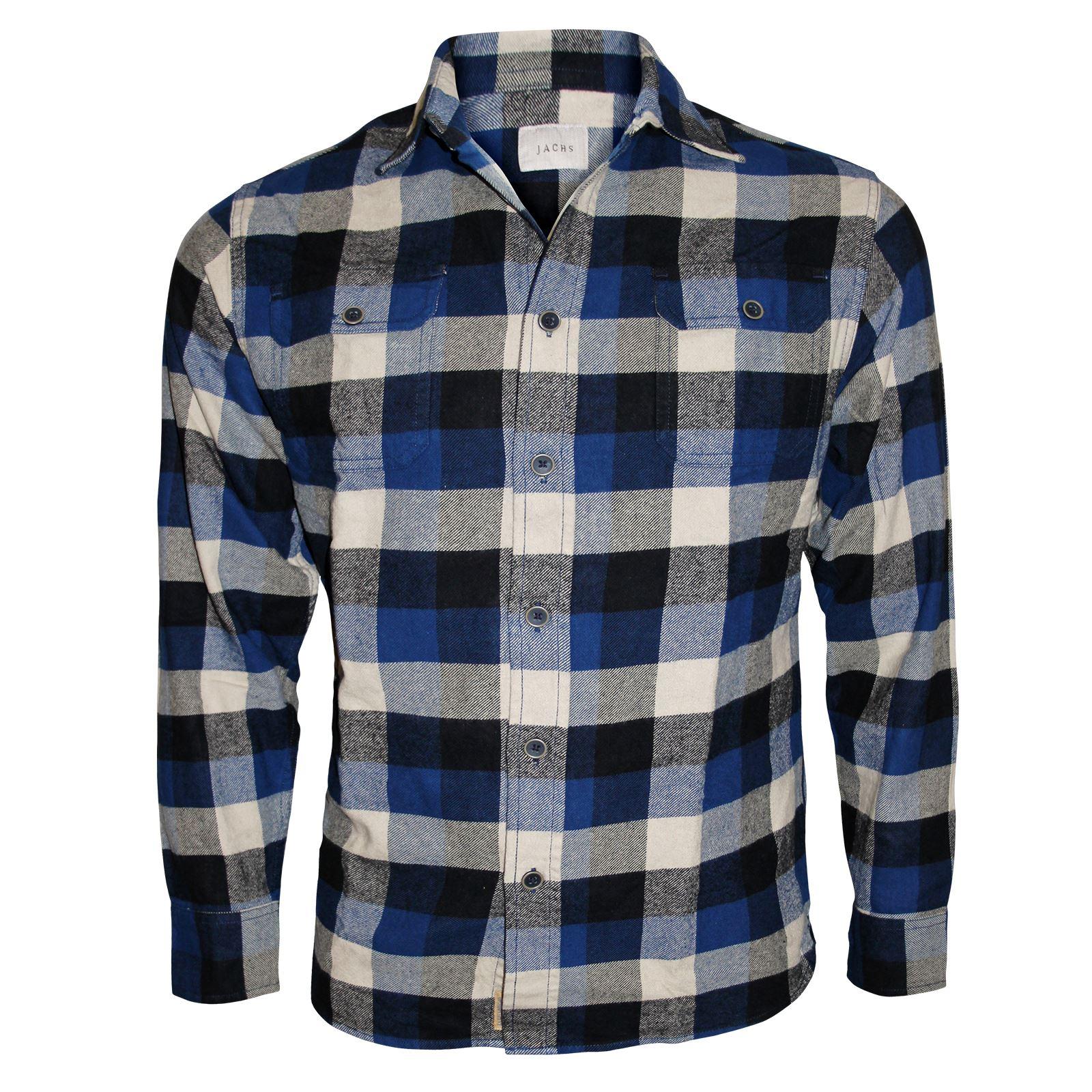 Mens flannel brushed fleece shirt plaid lumberjack check for 100 cotton dress shirt