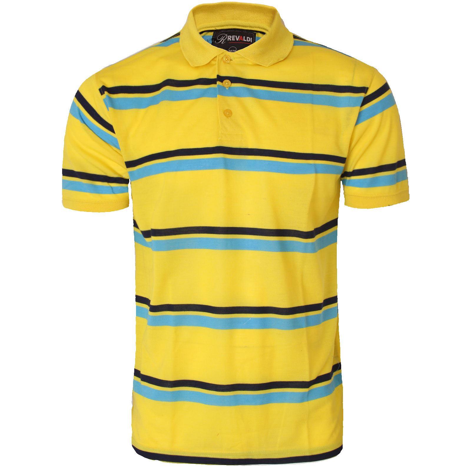 Mens striped short sleeve polo shirt top golf t shirt for Mens short sleeve patterned shirts