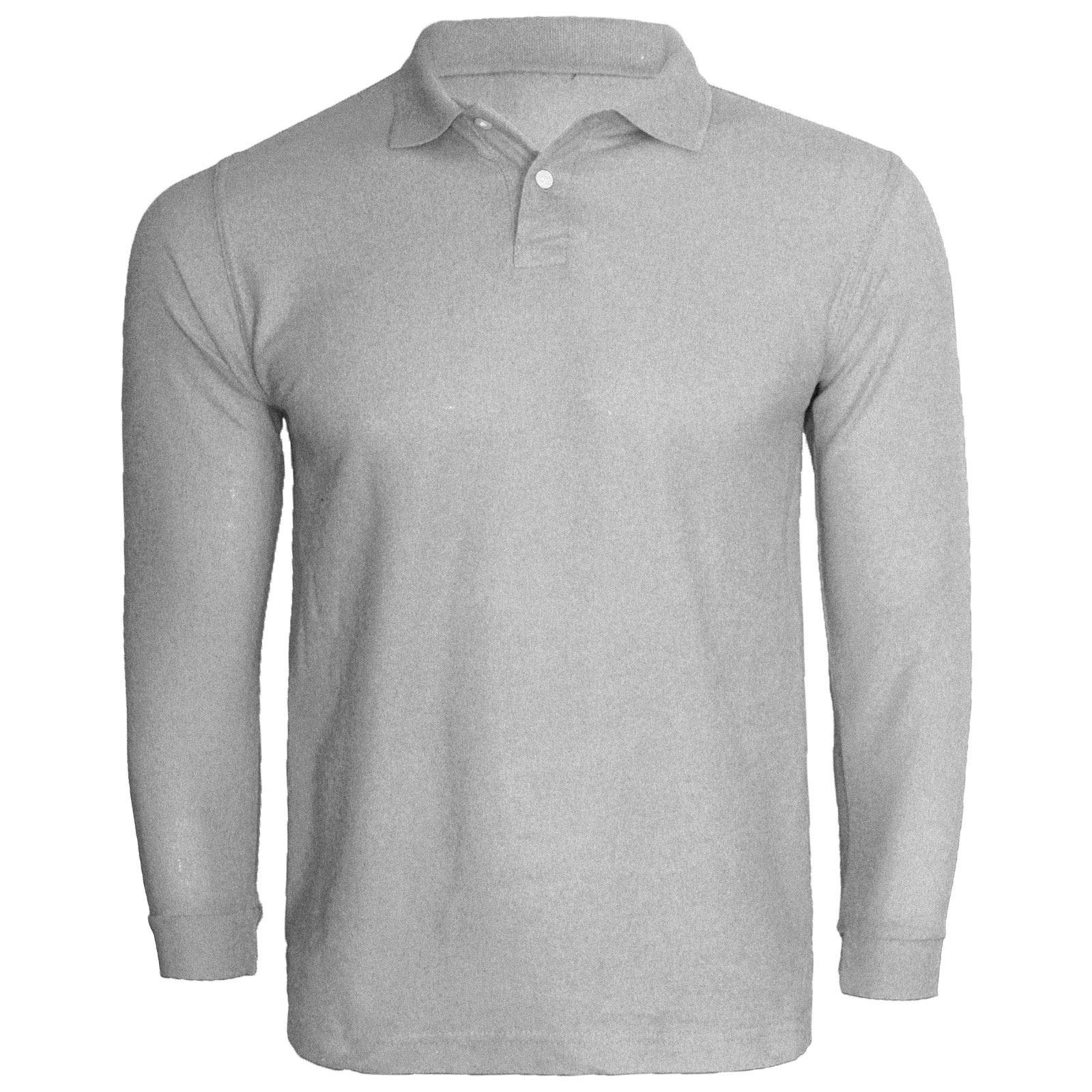 Kids boys girls long sleeve polo shirt button t shirt top for Long sleeved polo shirts for boys