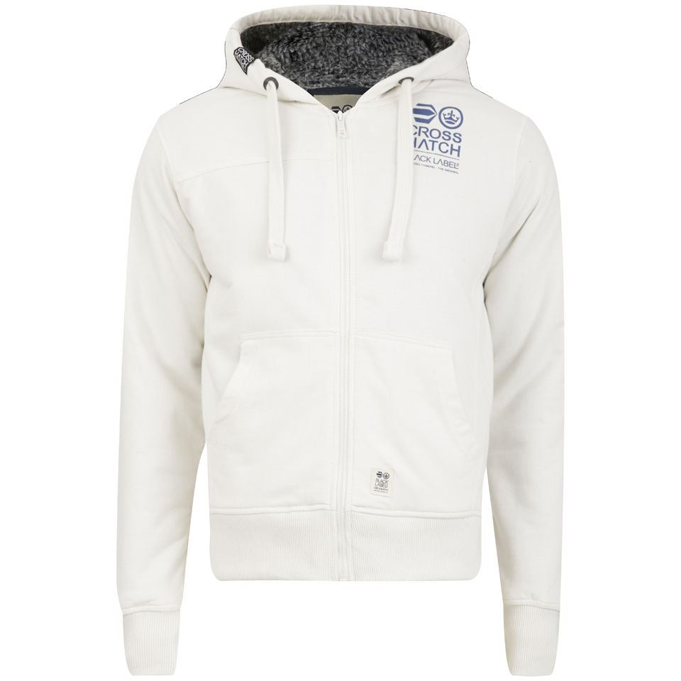 Mens White Hoodie Pullover - Hardon Clothes